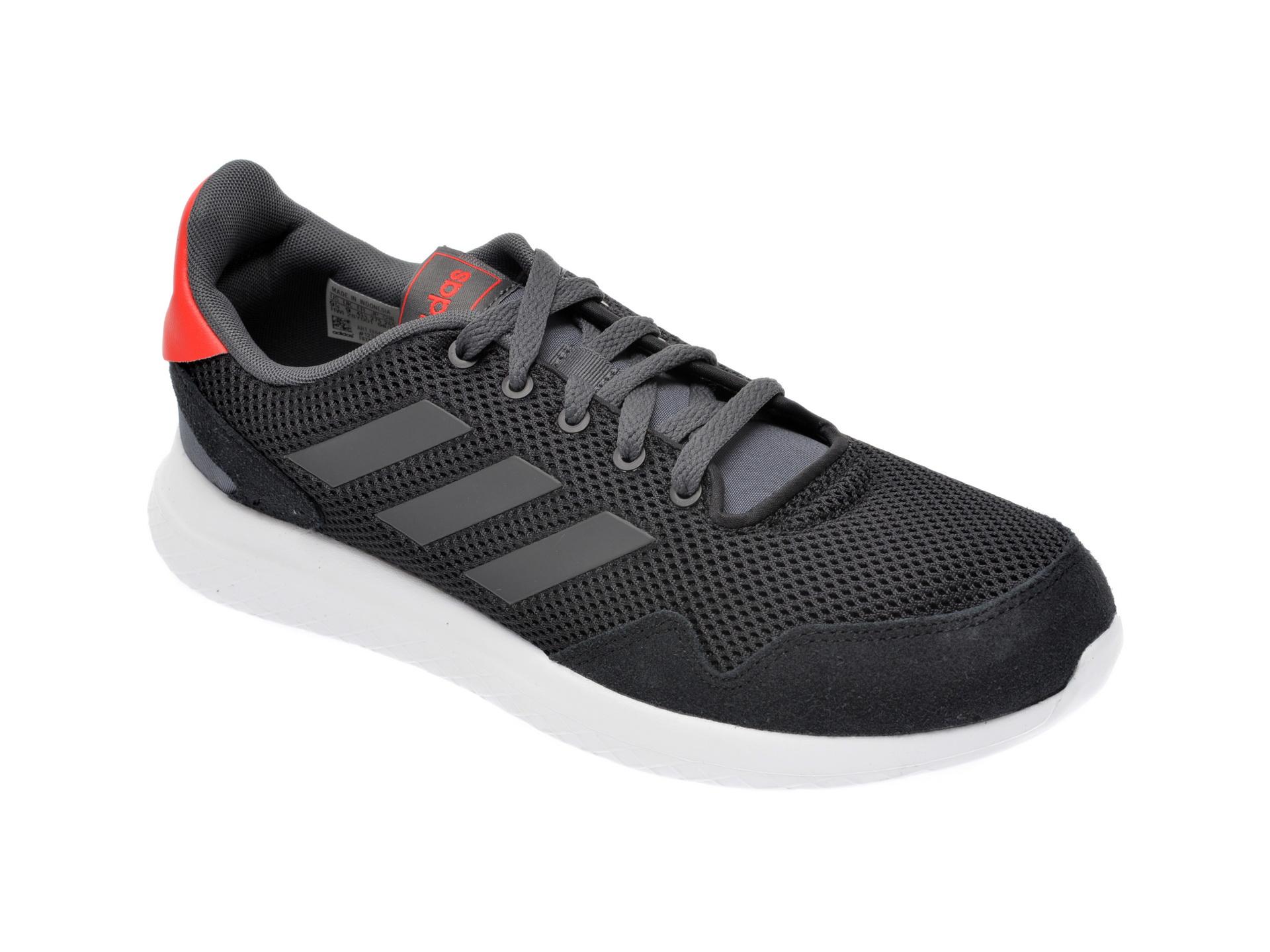 Pantofi Sport Adidas Negri, Archivo, Din Material Textil Si Piele Intoarsa