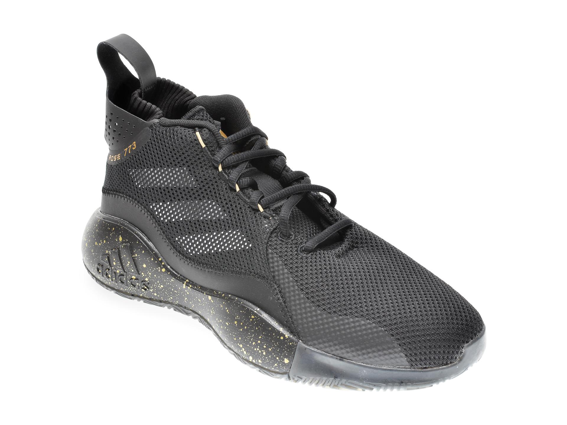 Pantofi sport ADIDAS negri, D ROSE, din material textil imagine
