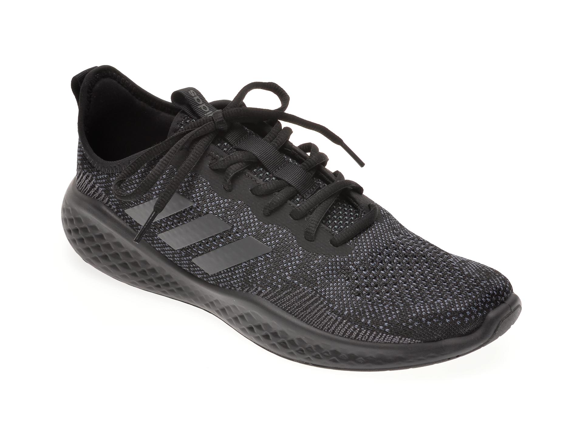 Pantofi sport ADIDAS negri, FLUIDFLOW, din material textil imagine