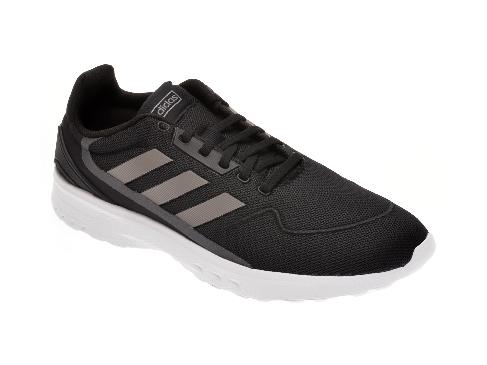 Pantofi sport ADIDAS negri, NEBZED, din material textil