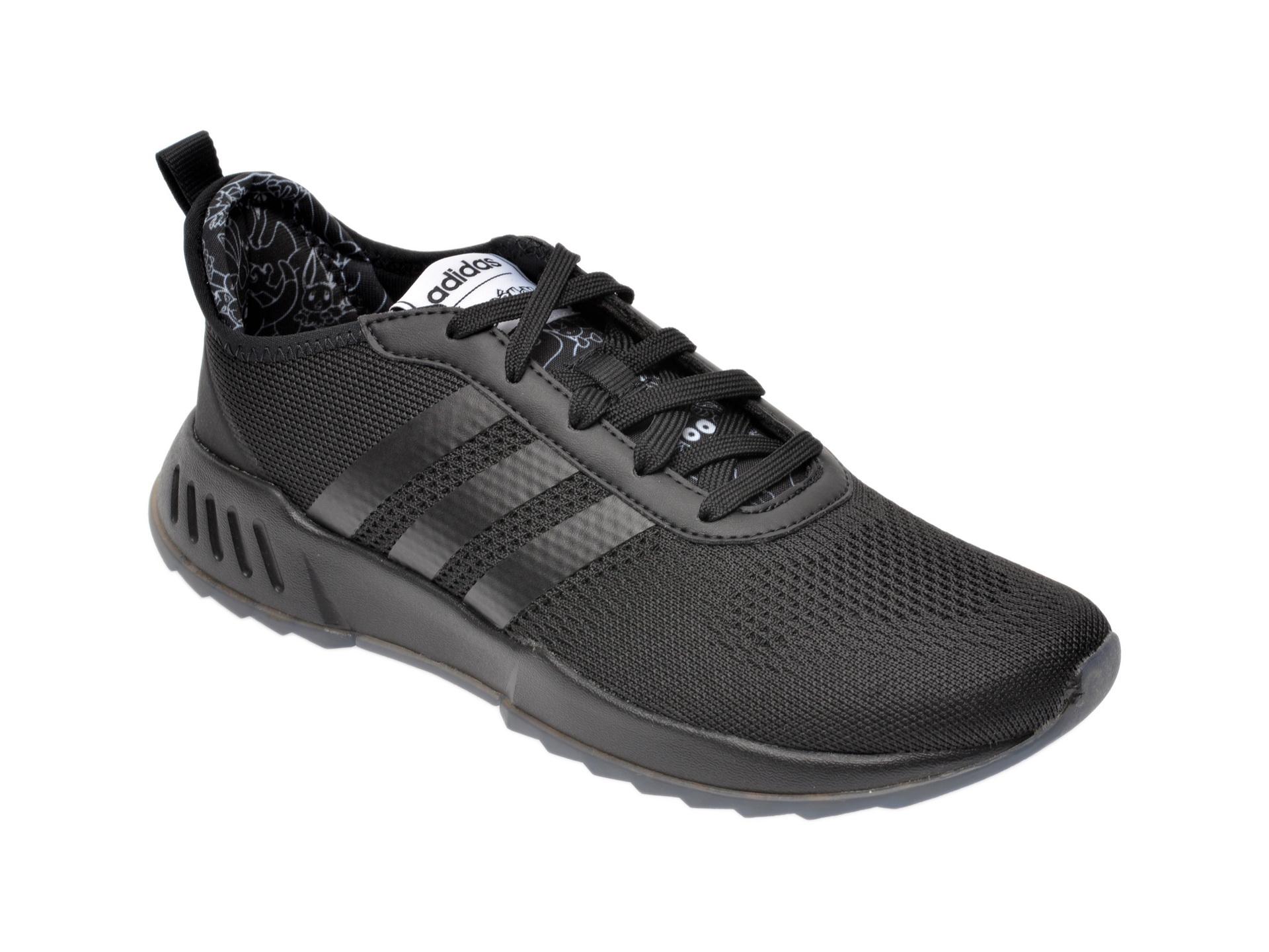 Pantofi sport ADIDAS negri, Phosphere, dinmaterial textil imagine