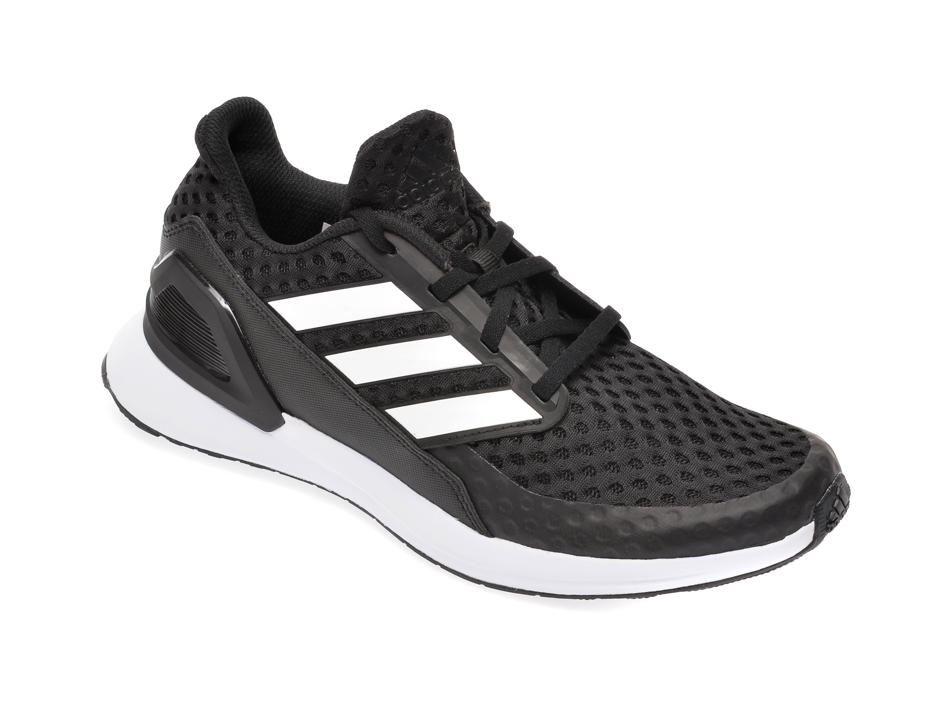 Pantofi sport ADIDAS negri, Rapidarun J, din material textil New