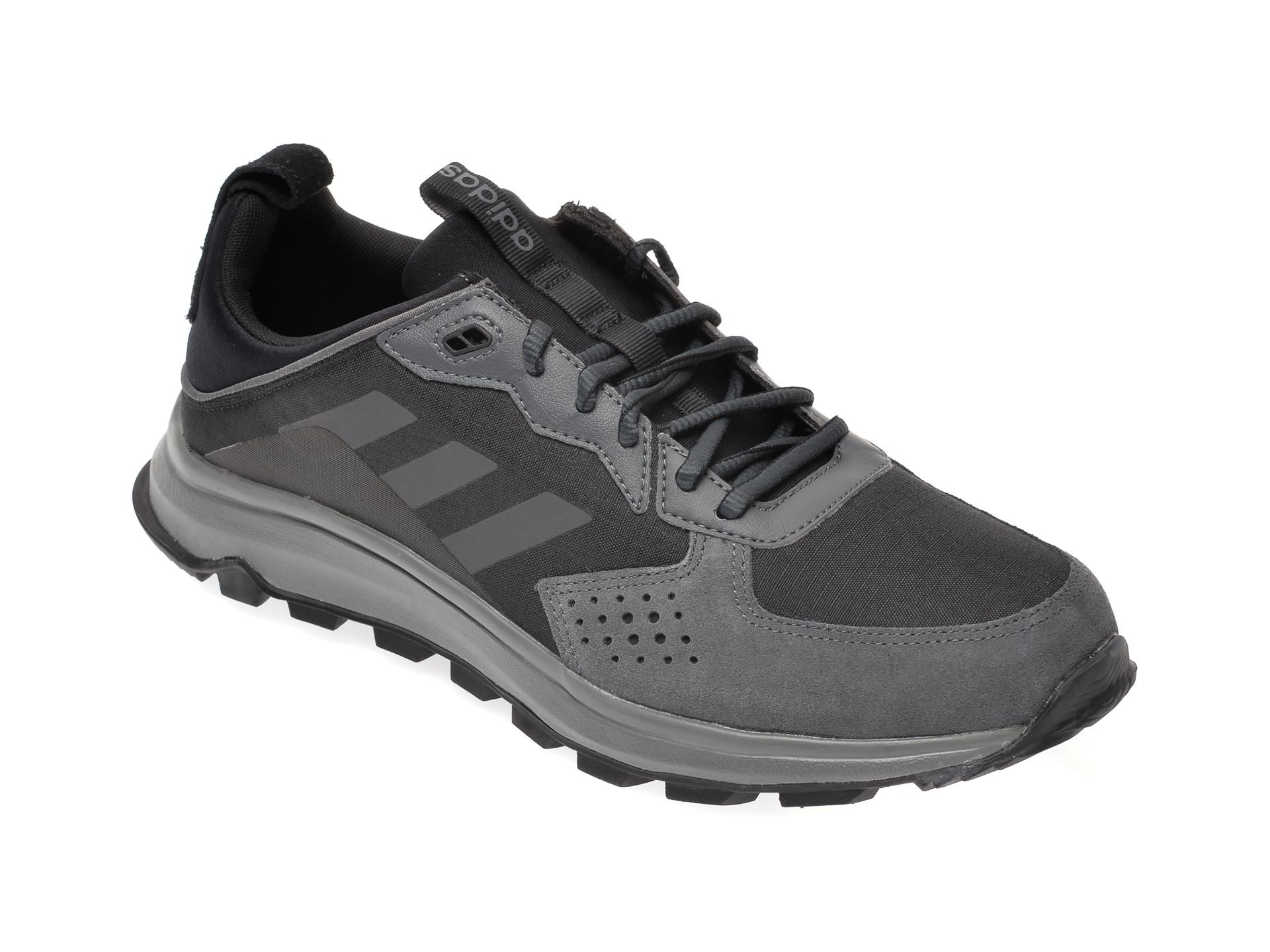 Pantofi sport ADIDAS negri, Response Trail, din material textil si piele naturala imagine