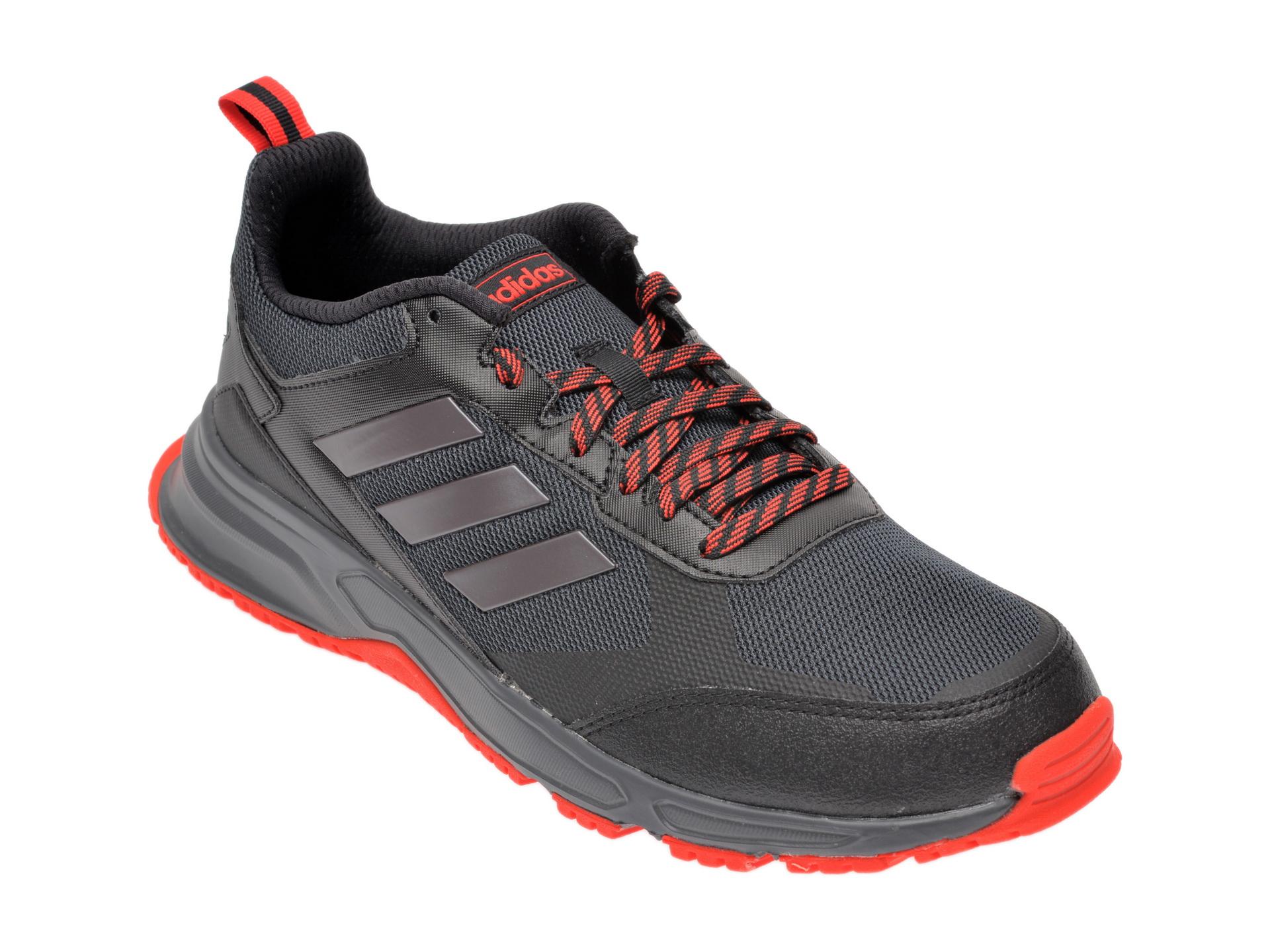Pantofi sport ADIDAS negri, Rockadia Trail 3, din material textil imagine