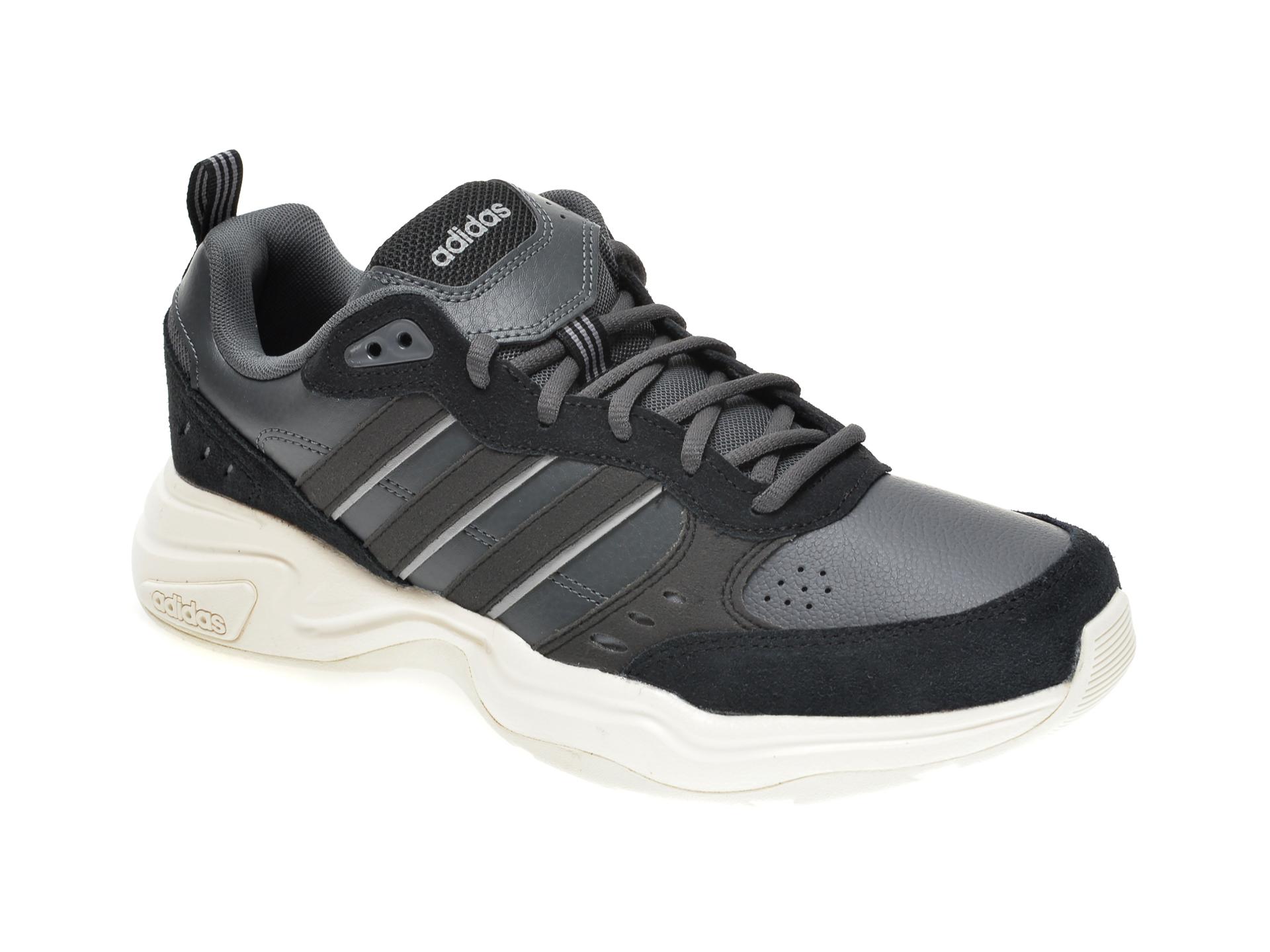 Pantofi sport ADIDAS negri, STRUTTER, din piele naturala imagine otter.ro 2021