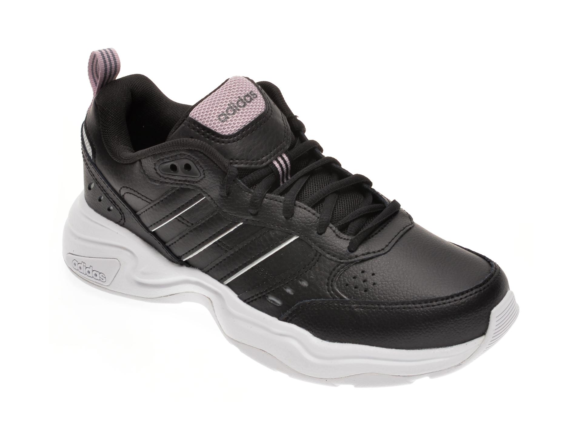 Pantofi sport ADIDAS negri, STRUTTER, din piele naturala