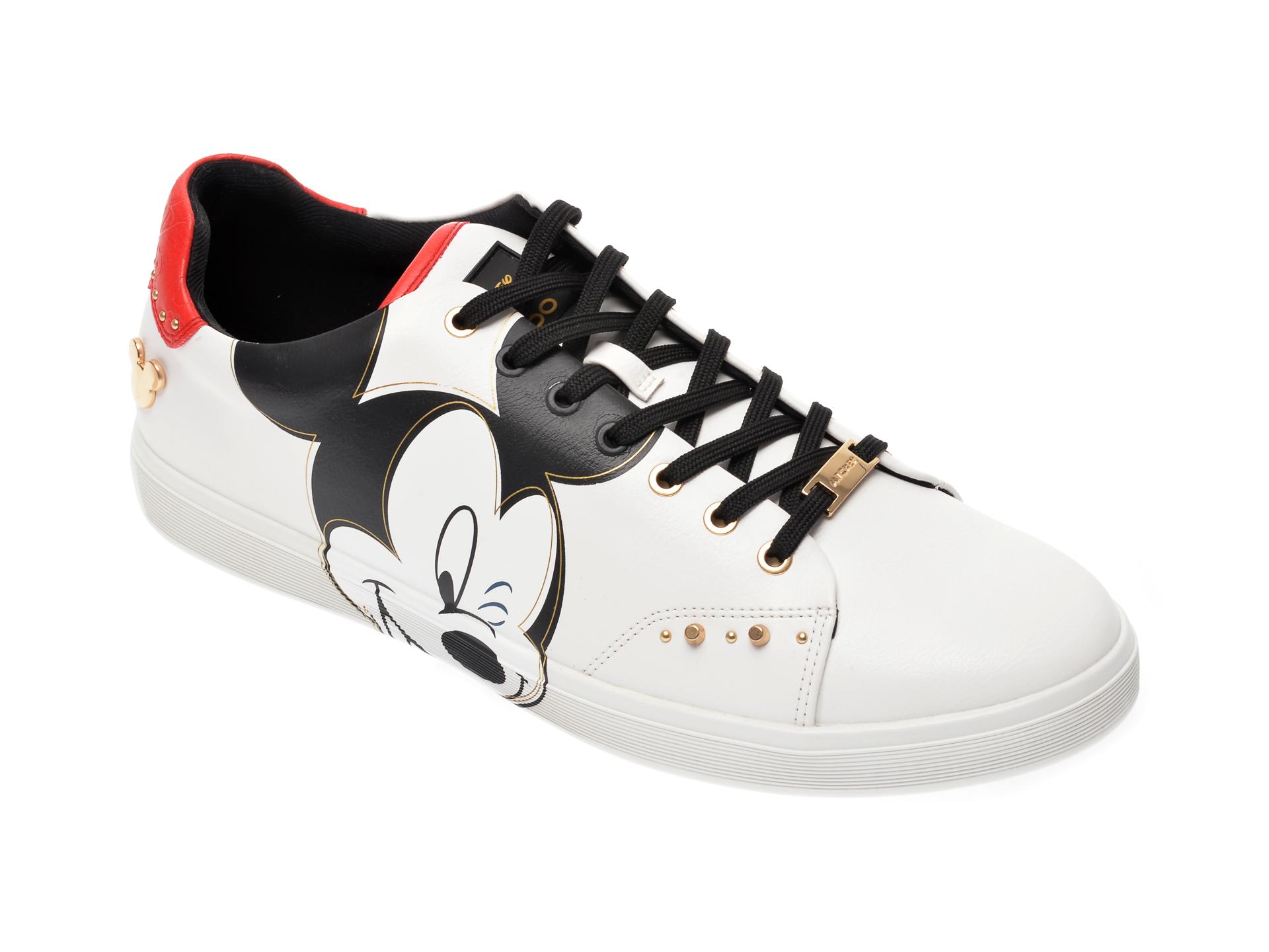 Pantofi sport ALDO albi, Cool-Mickey100, din piele ecologica imagine