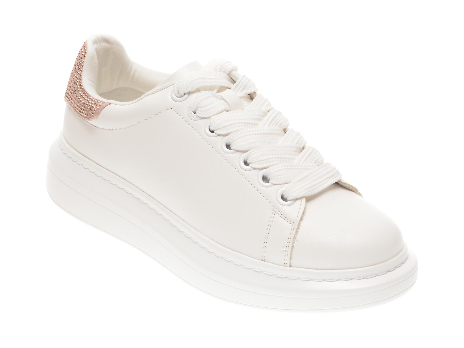 Pantofi sport ALDO albi, Dazzle680, din piele ecologica imagine otter.ro