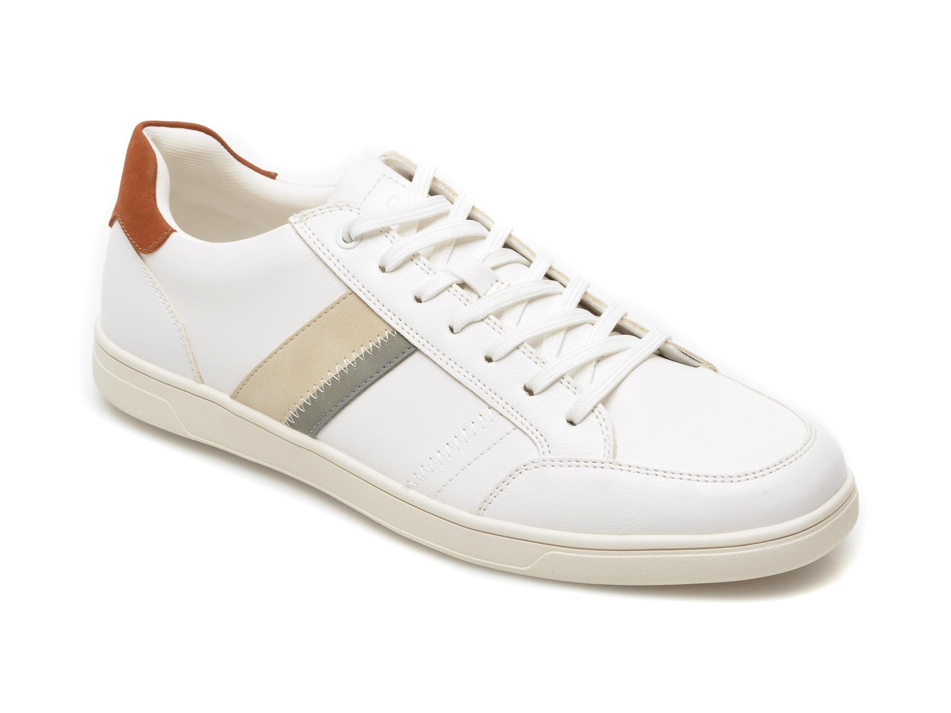 Pantofi sport ALDO albi, Dunkeld100, din piele ecologica imagine otter.ro 2021