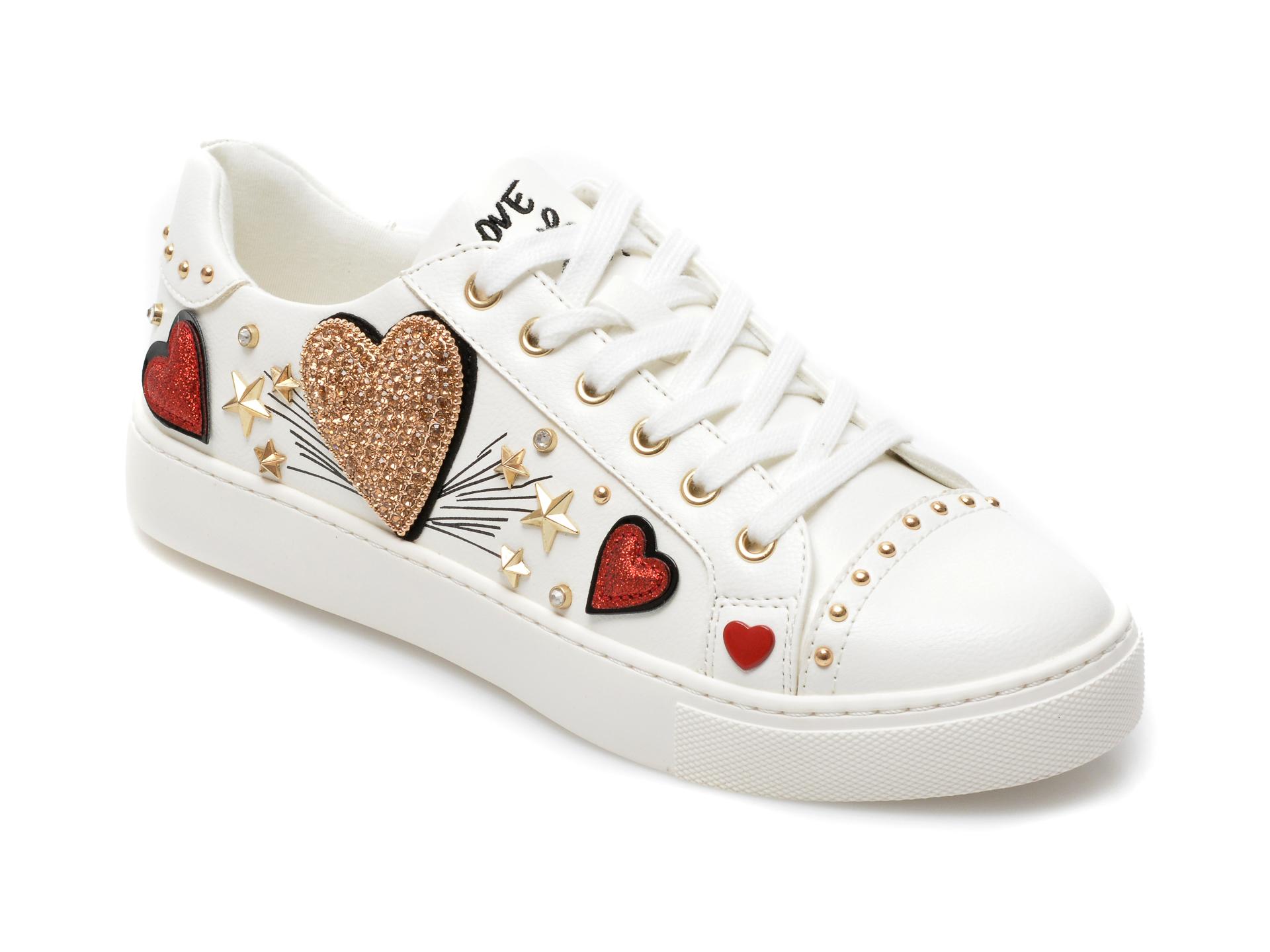 Pantofi sport ALDO albi, Elixir100, din piele ecologica
