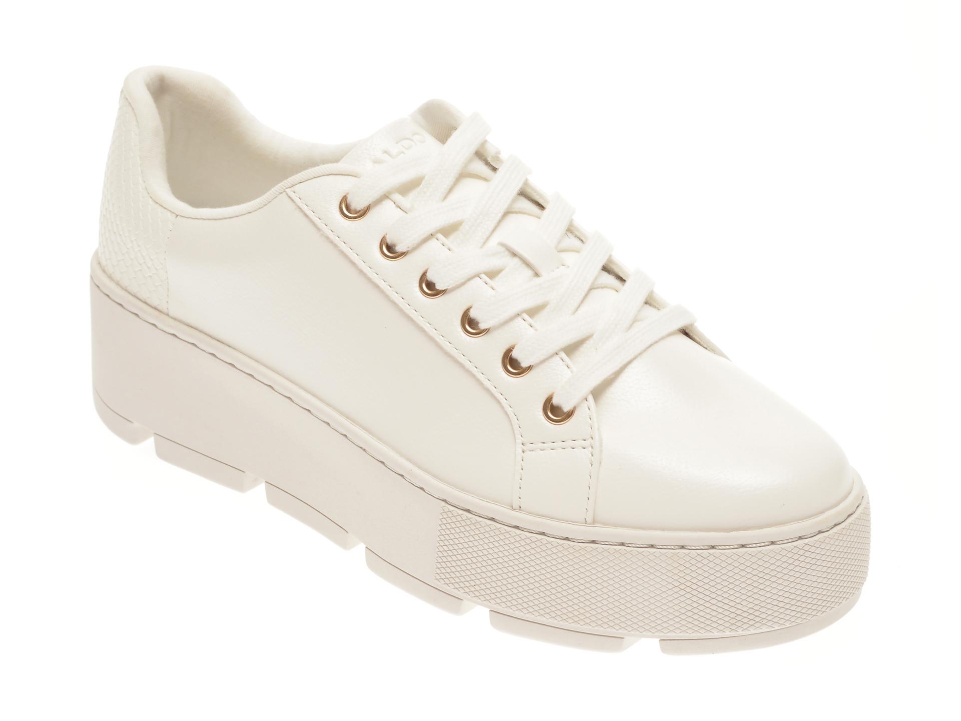 Pantofi sport ALDO albi, Gladesville100, din piele ecologica imagine otter.ro