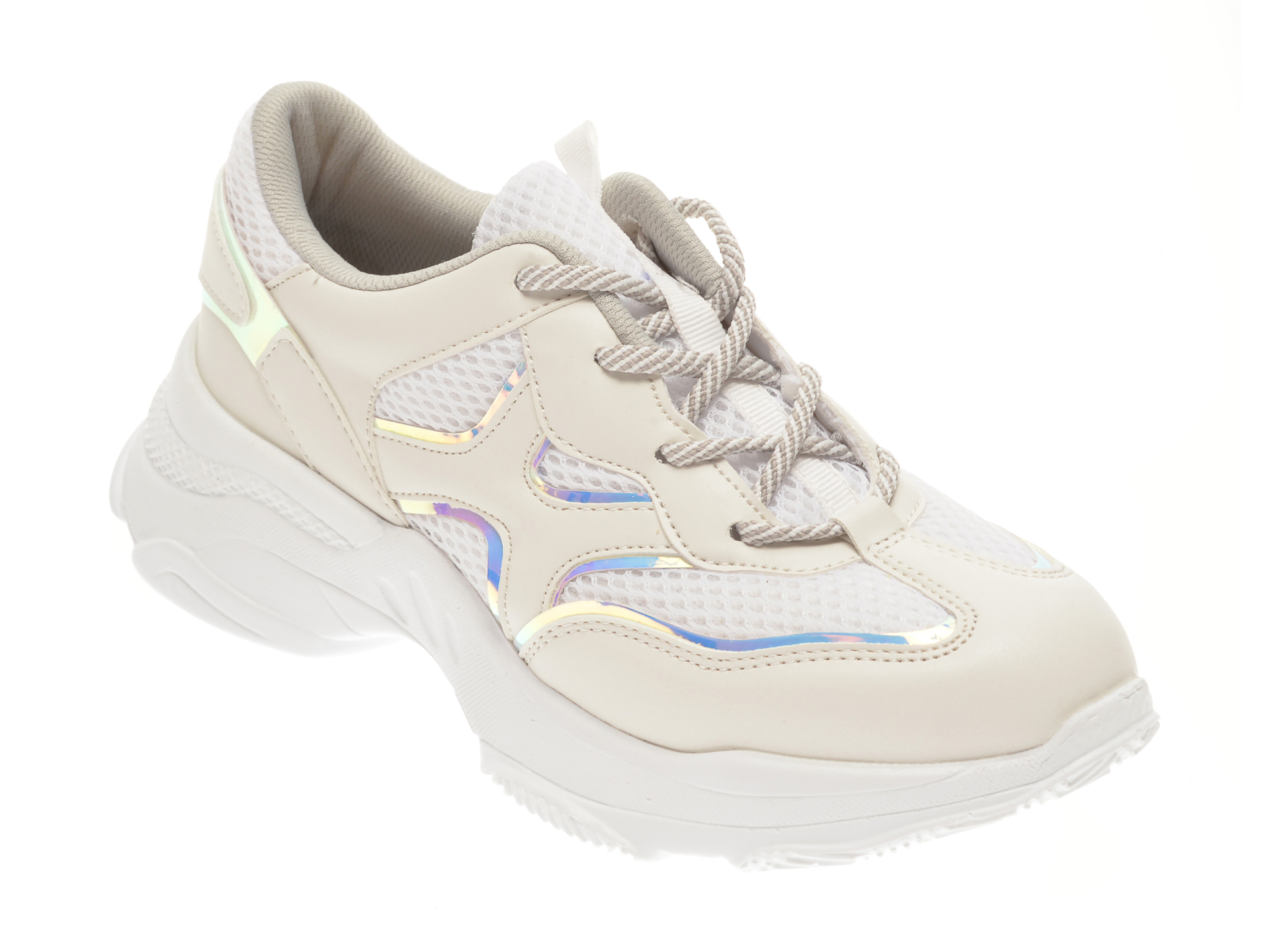 Pantofi sport ALDO albi, Gram100, din material textil si piele ecologica