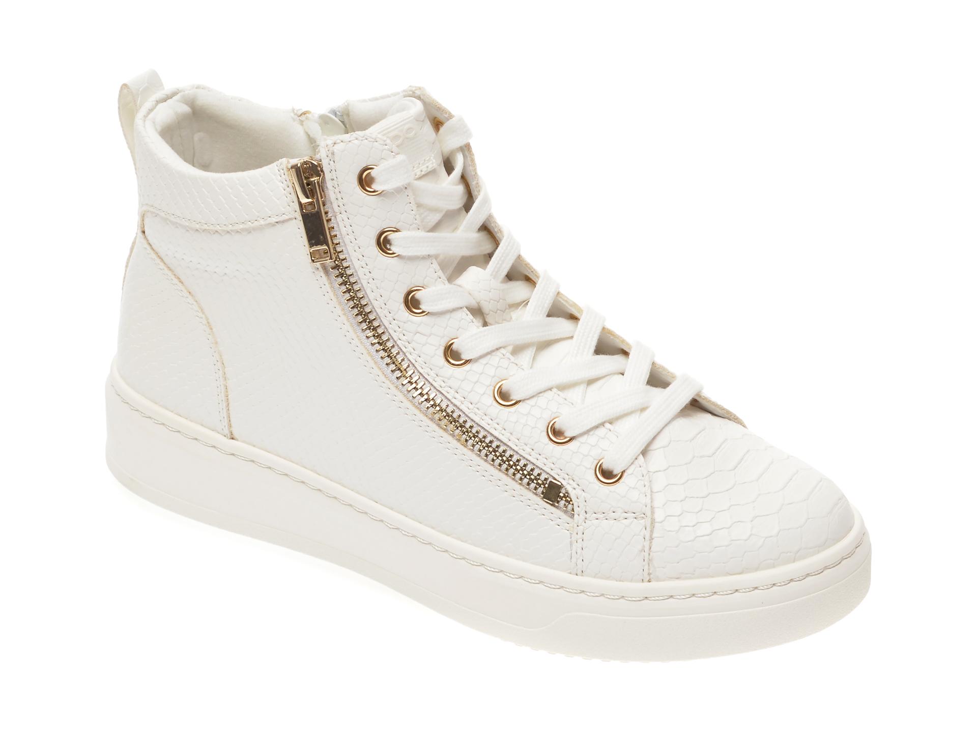 Pantofi sport ALDO albi, Harleigh100, din piele ecologica