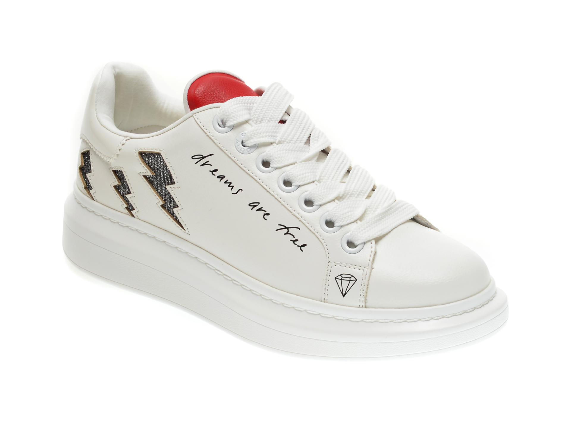 Pantofi sport ALDO albi, Juparana100, din piele ecologica imagine