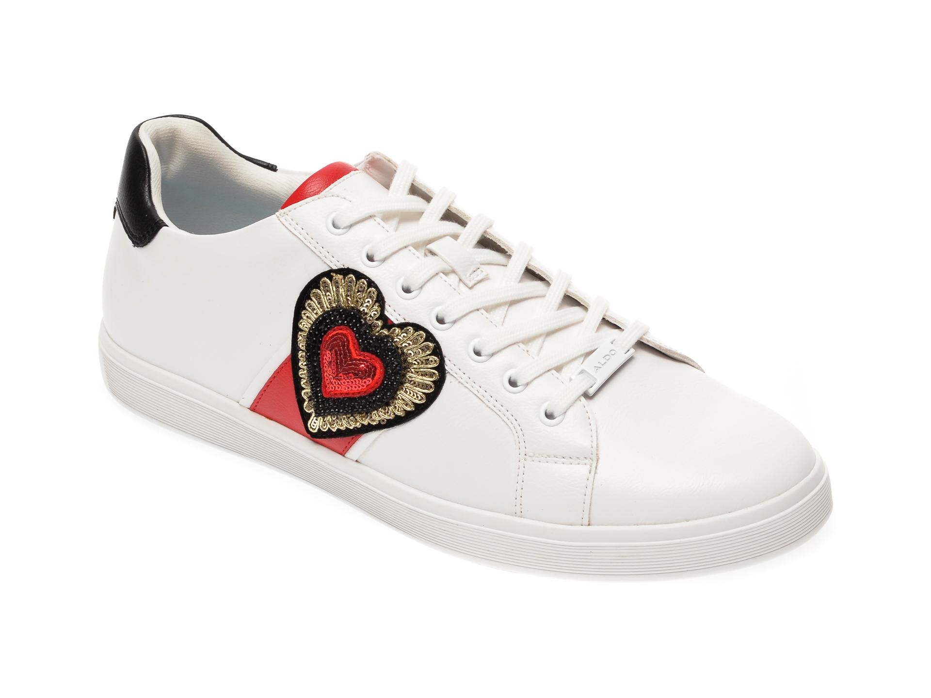 Pantofi sport ALDO albi, Pramju100, din piele ecologica imagine