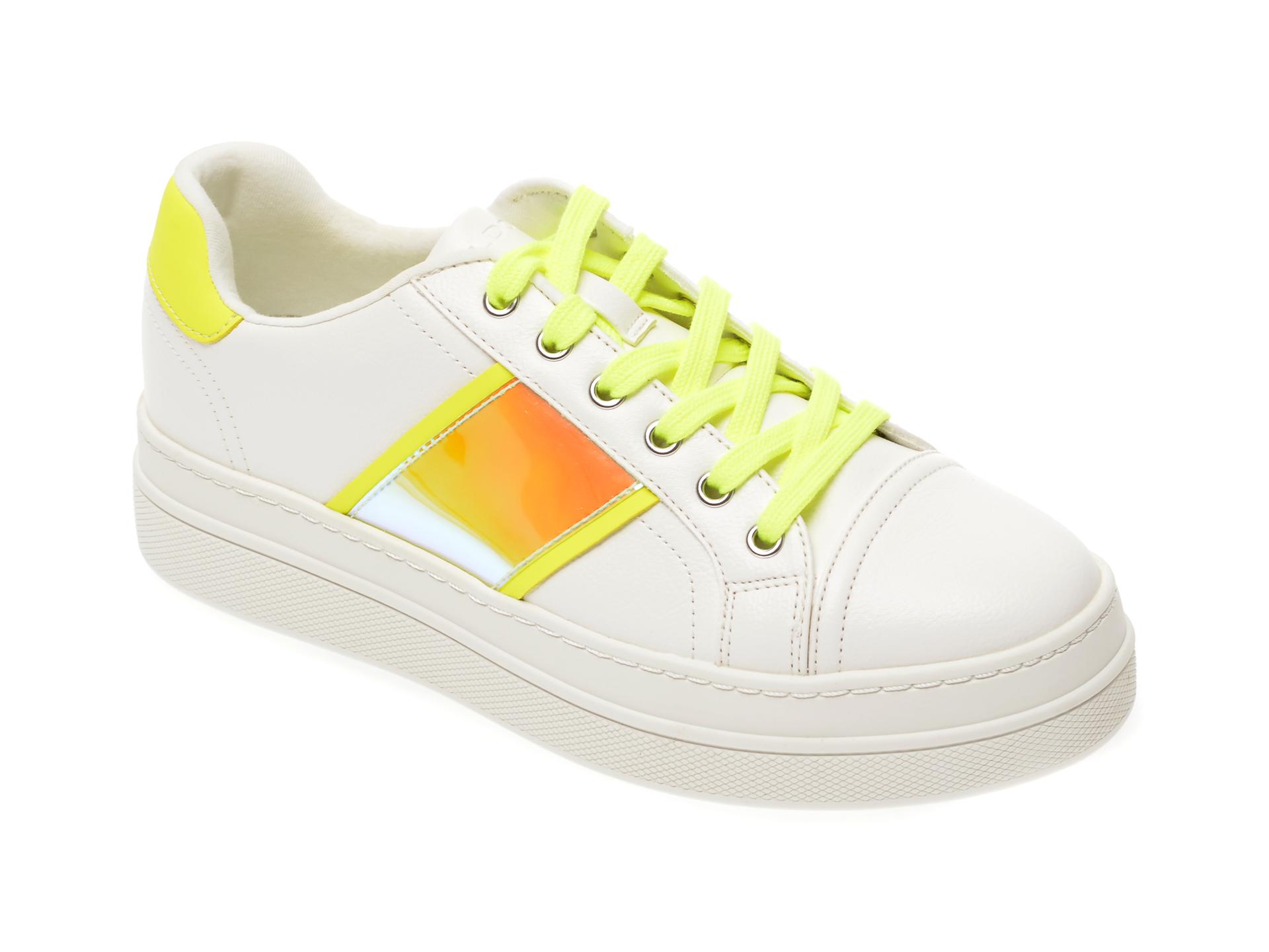 Pantofi sport ALDO albi, Starburst320, din piele ecologica