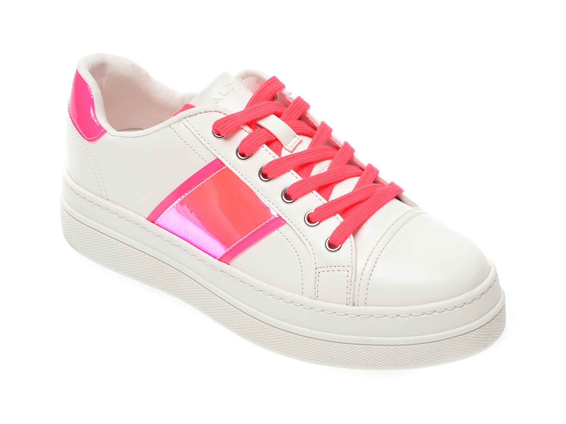 Pantofi sport ALDO albi Starburst670, din piele ecologica New