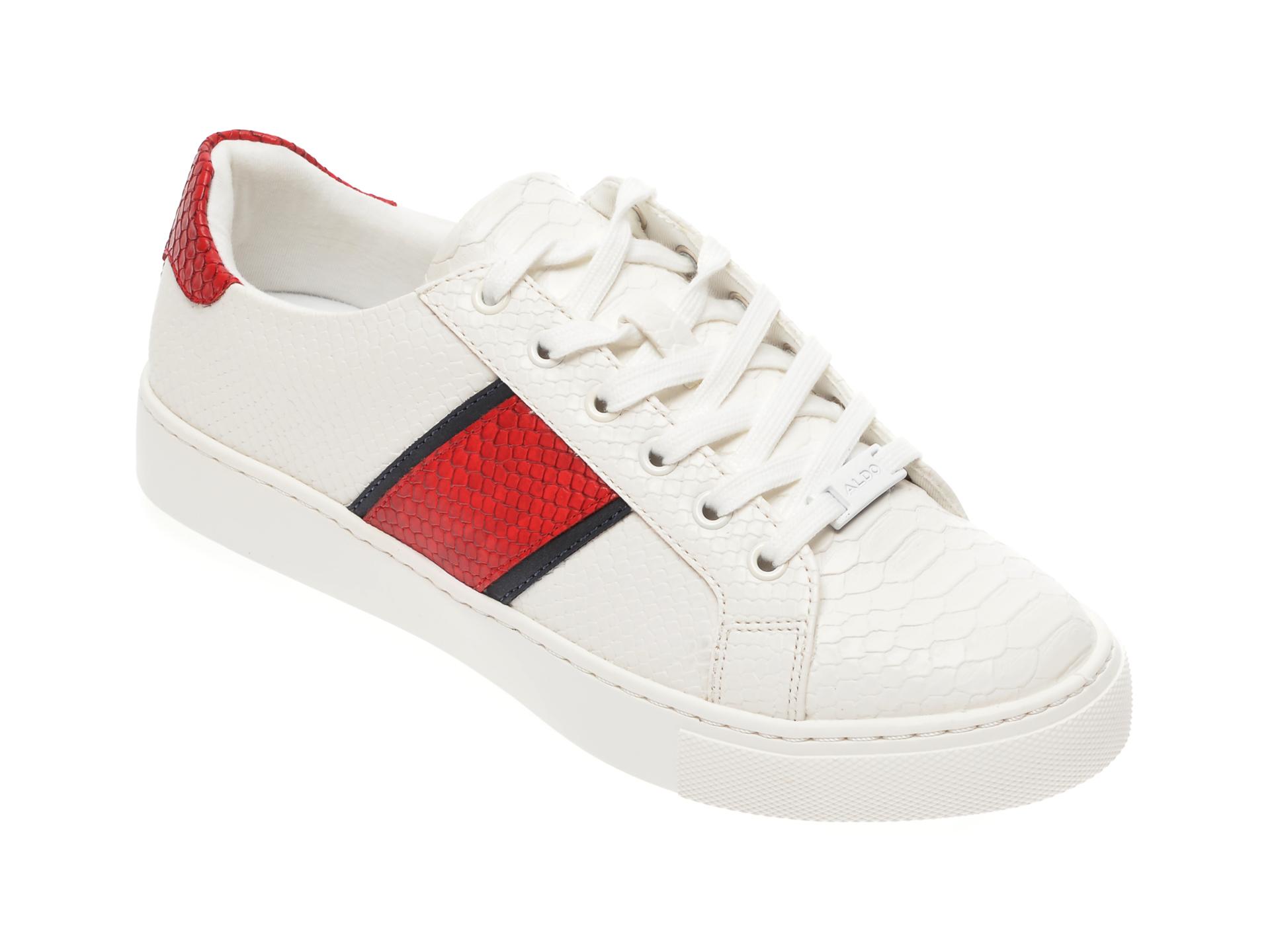 Pantofi sport ALDO albi, Strelley100, din piele ecologica