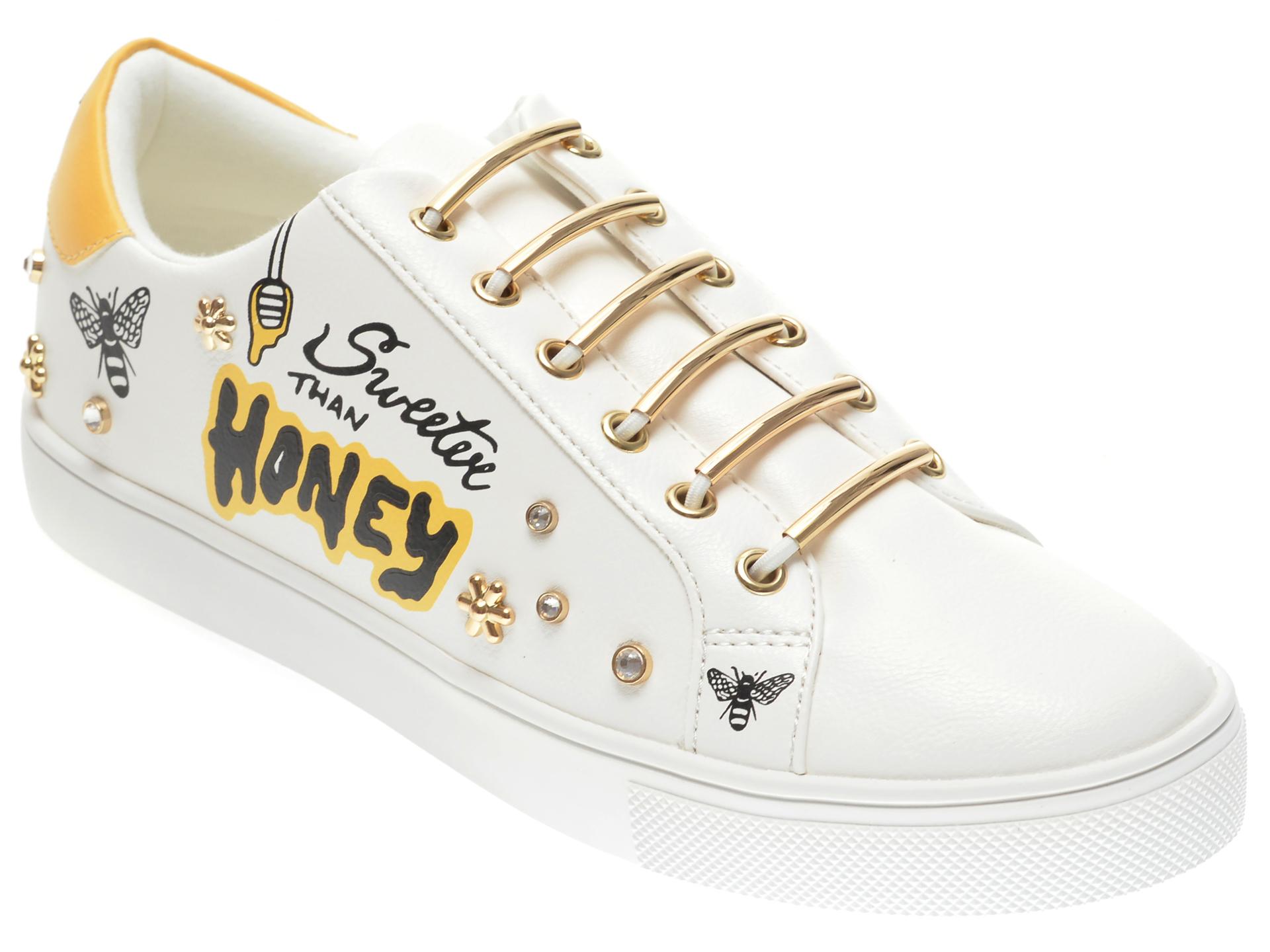 Pantofi sport ALDO albi, Sweethoney100, din piele ecologica imagine