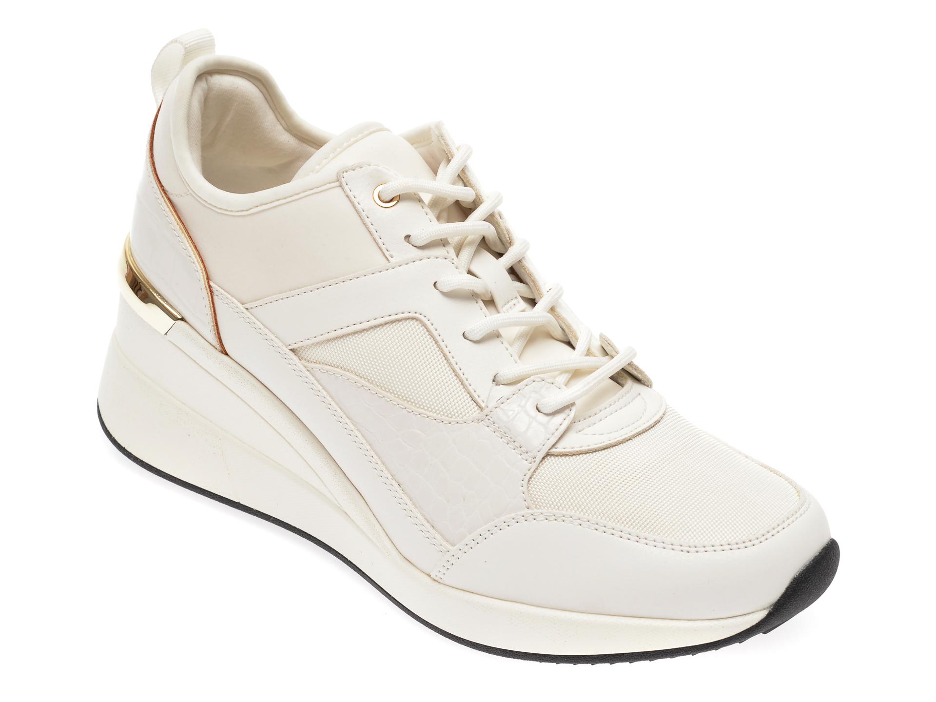 Pantofi sport ALDO albi, Thrundra100, din material textil si piele ecologica imagine
