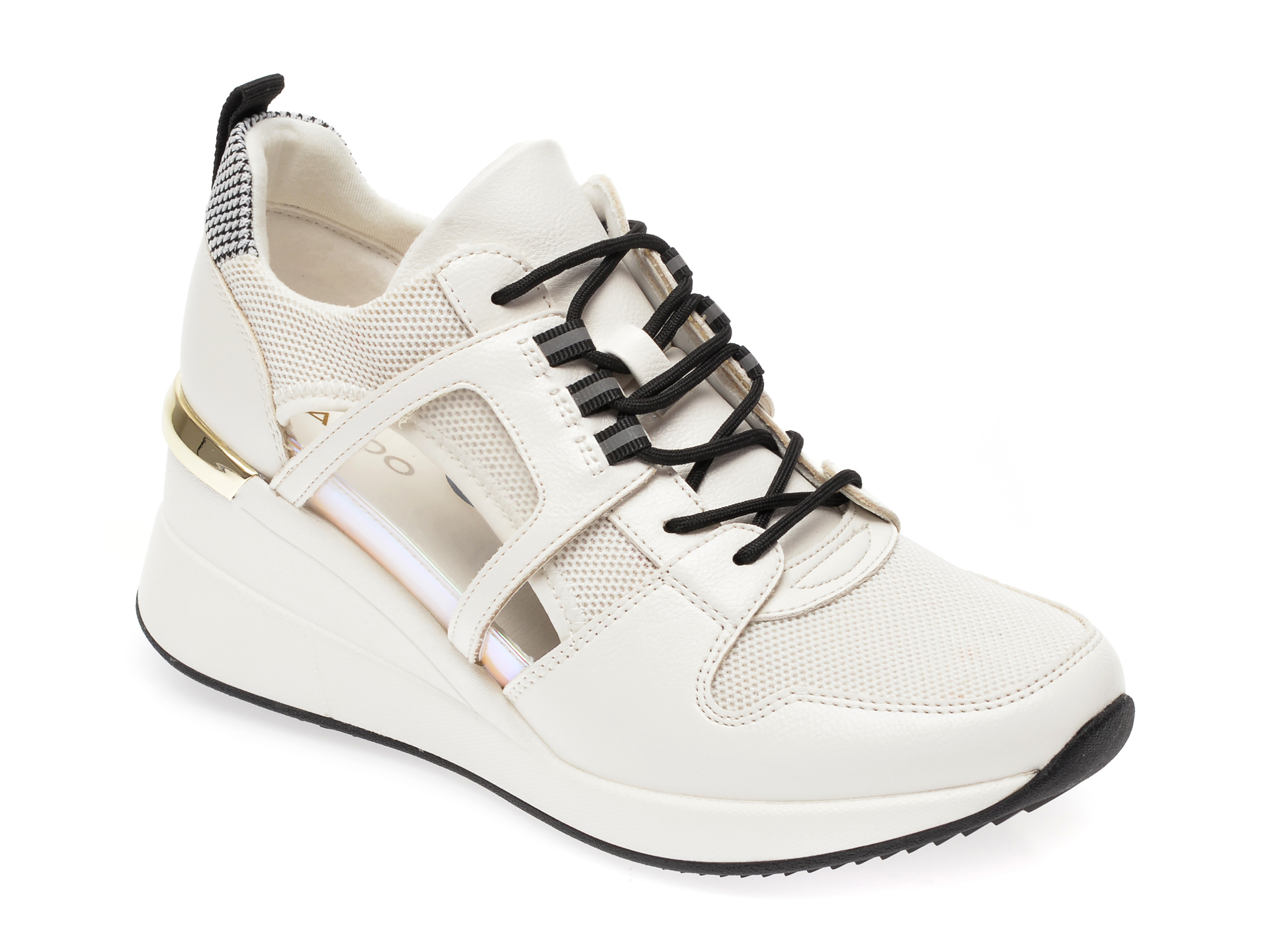 Pantofi sport ALDO albi, Virago965, din material textil si piele ecologica imagine