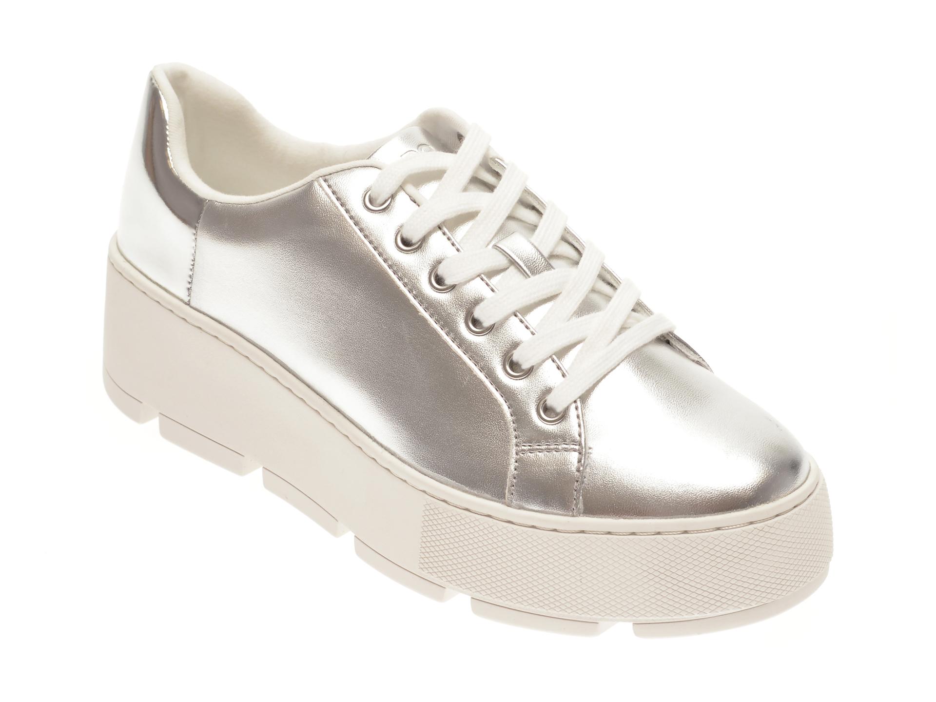 Pantofi sport ALDO argintii, Gladesville040, din piele ecologica imagine