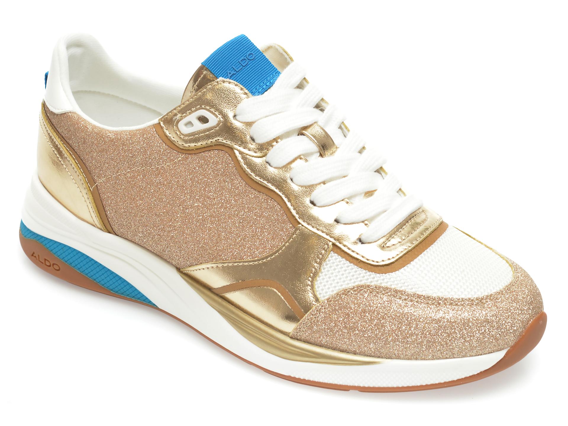 Pantofi sport ALDO aurii, Makenna710, din piele ecologica New