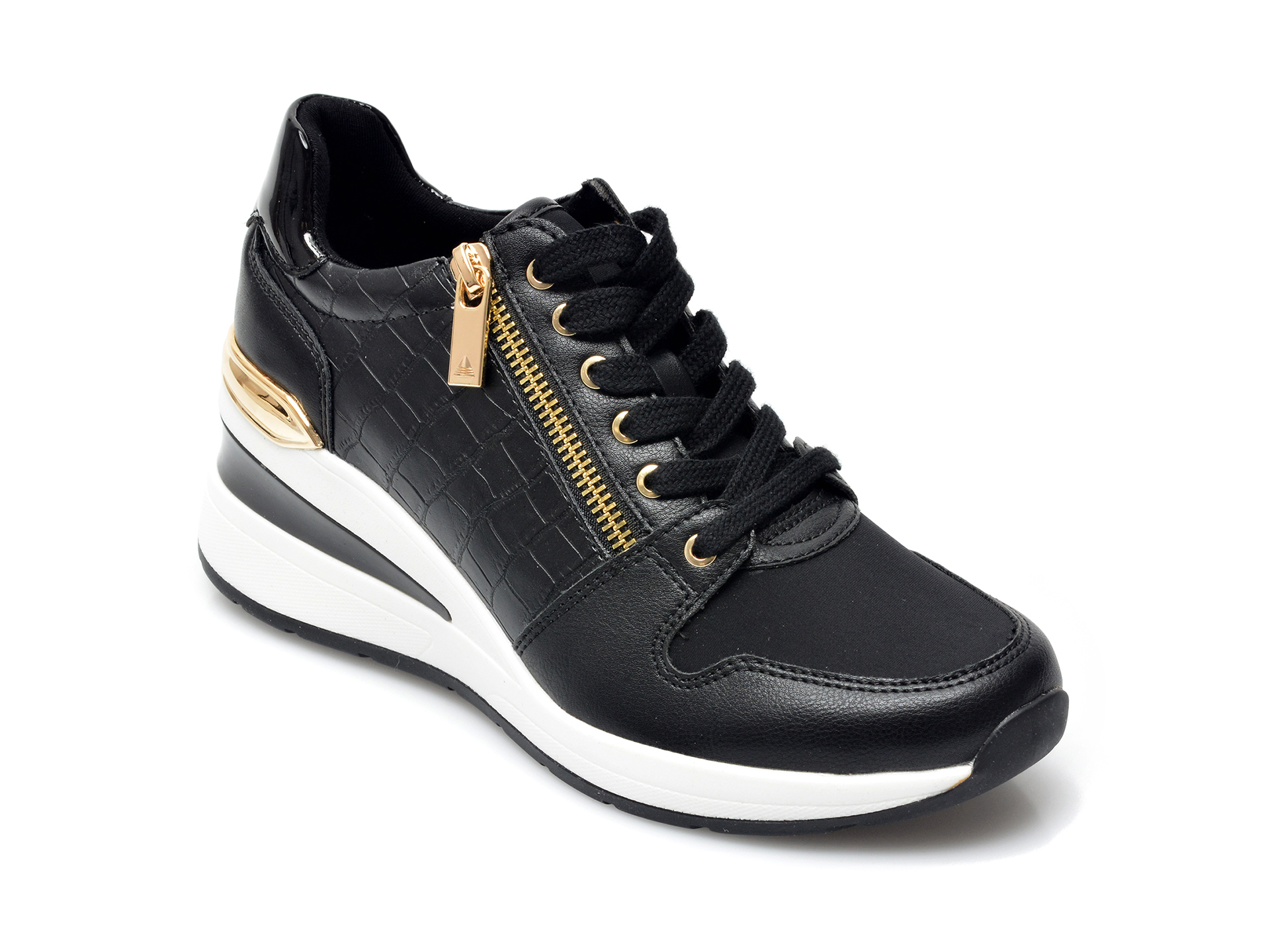 Pantofi sport ALDO negri, Adwiwia001, din material textil si piele ecologica imagine otter.ro