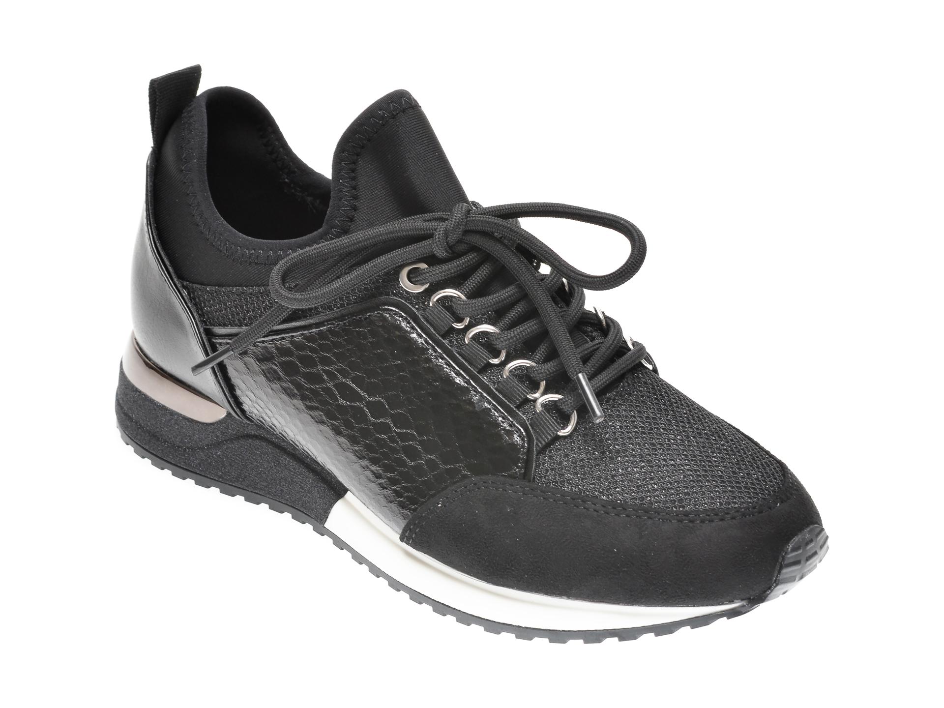 Pantofi sport ALDO negri, Courtwood001, din material textil si piele ecologica imagine otter.ro