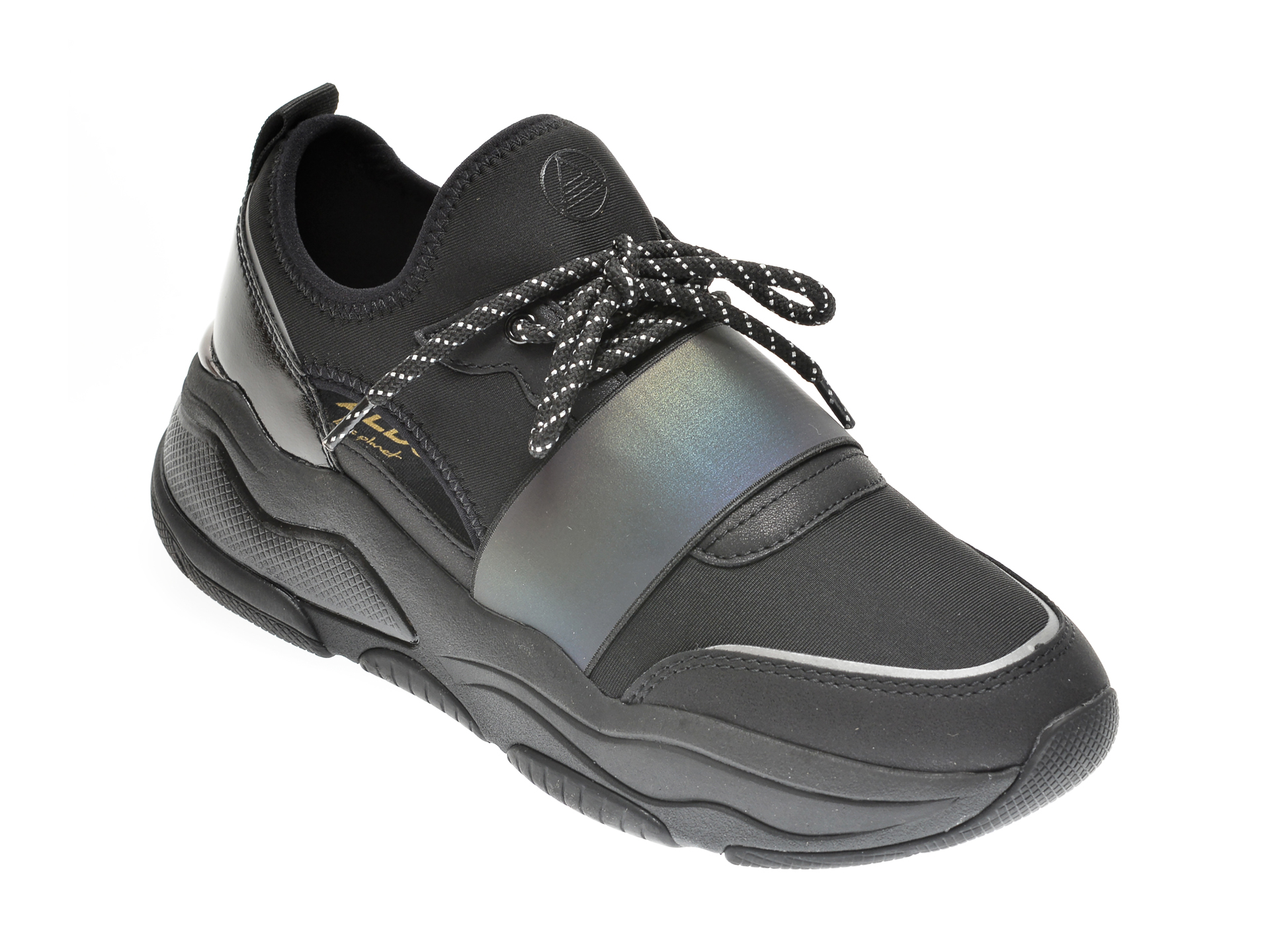 Pantofi sport ALDO negri, Rev008, din material textil si piele ecologica