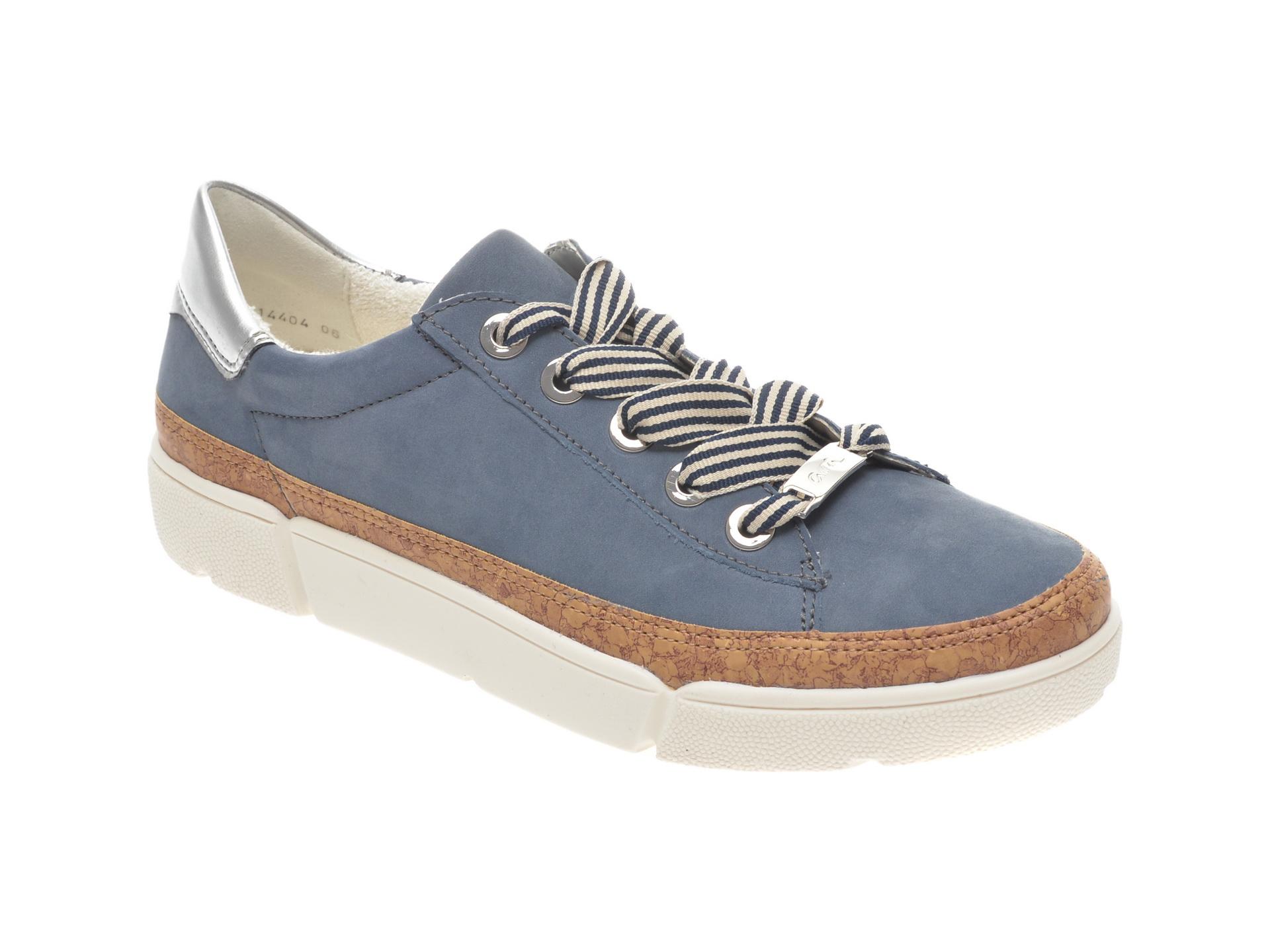 Pantofi sport ARA albastri, 14404, din nabuc imagine
