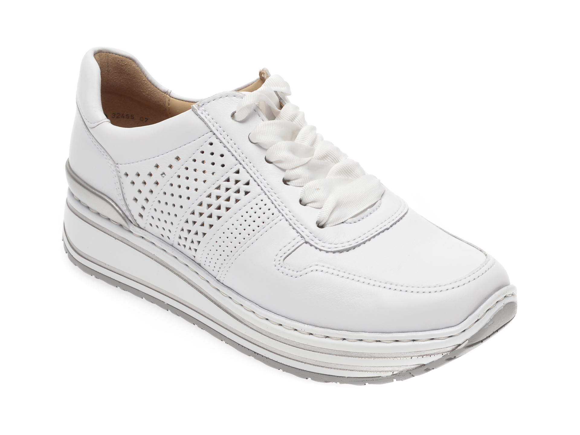Pantofi sport ARA albi, 32465, din piele naturala