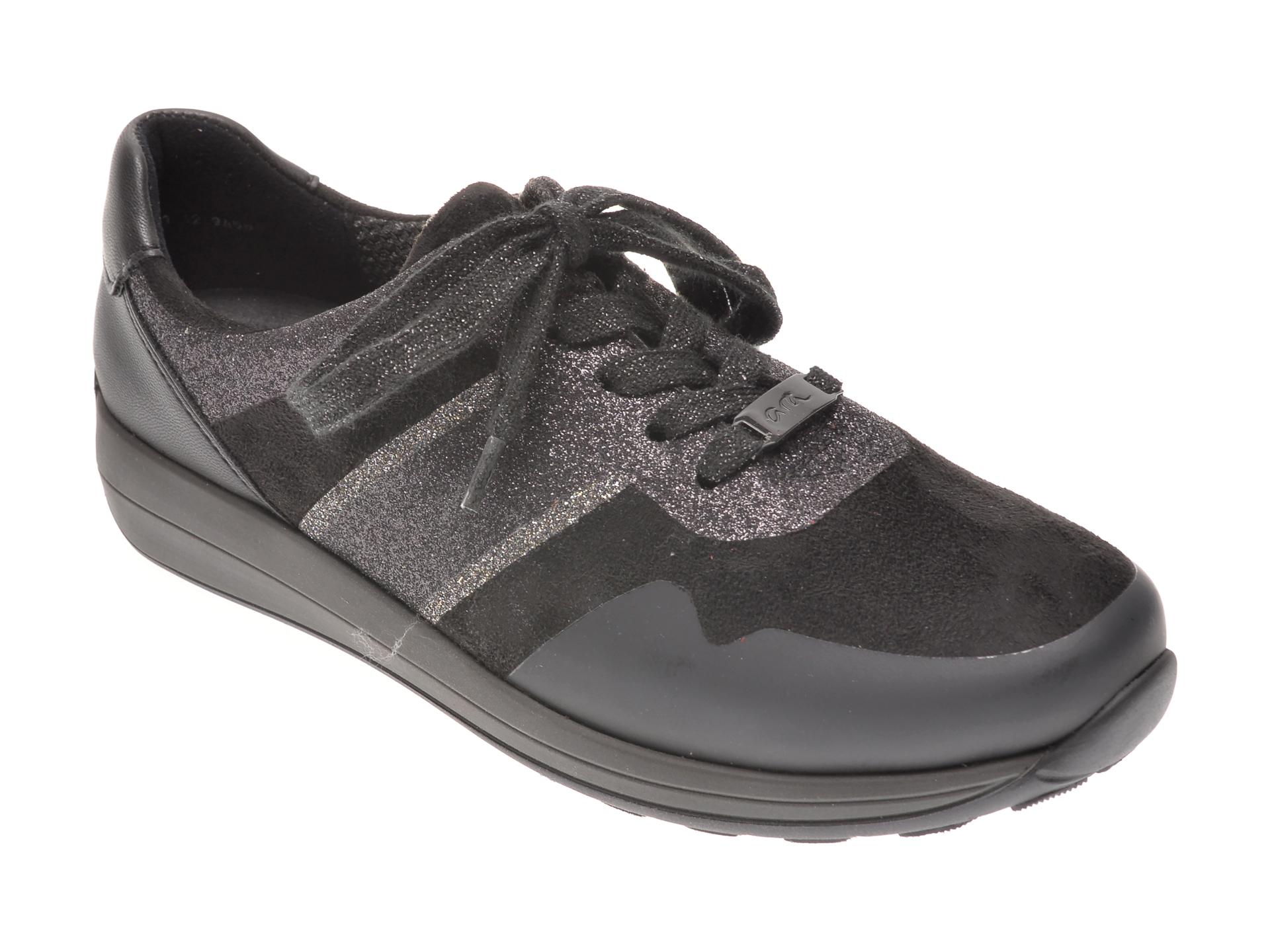Pantofi sport ARA negri, 34589, din material textil