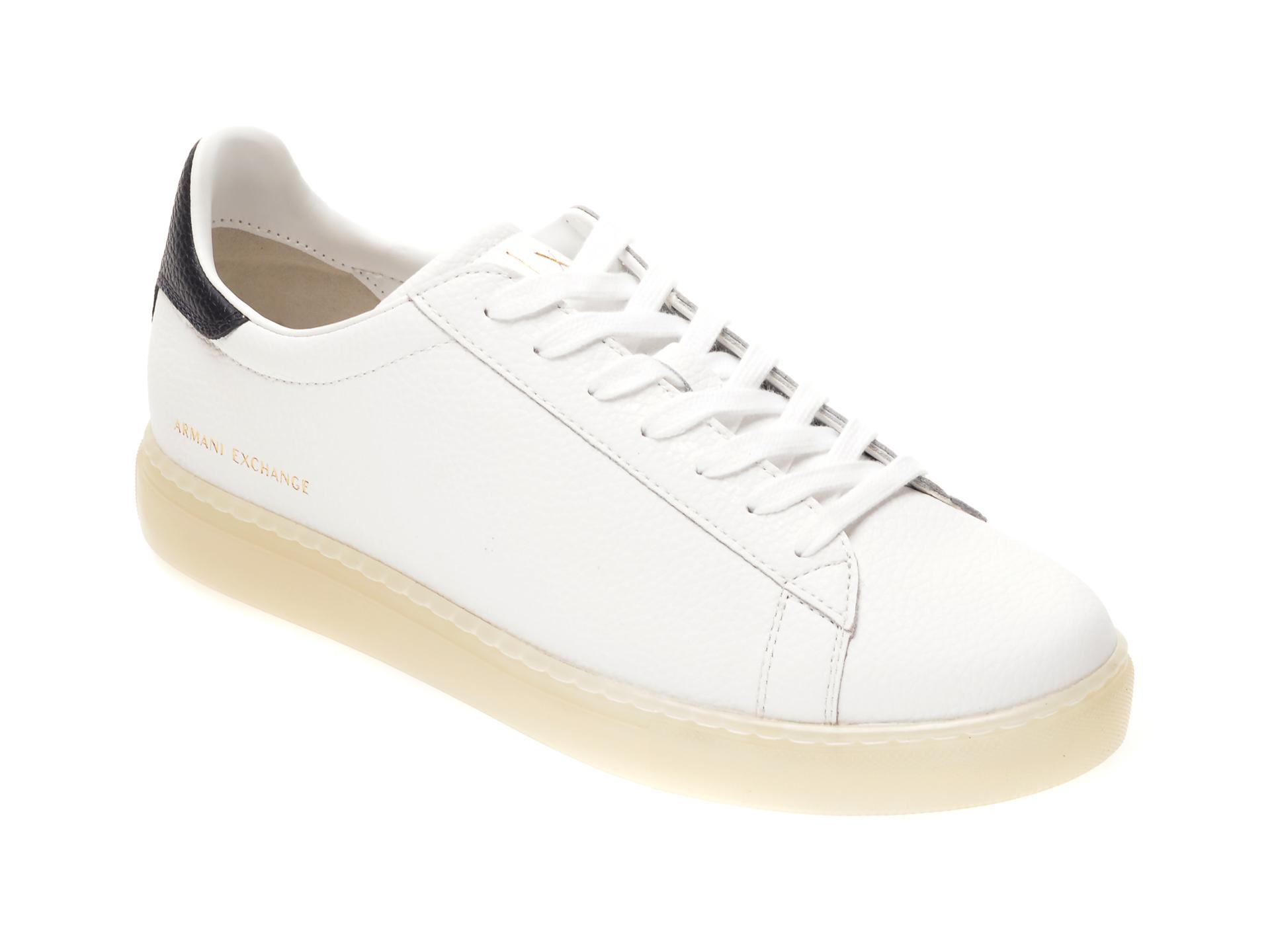 Pantofi sport ARMANI EXCHANGE albi, XUX001, din piele naturala imagine