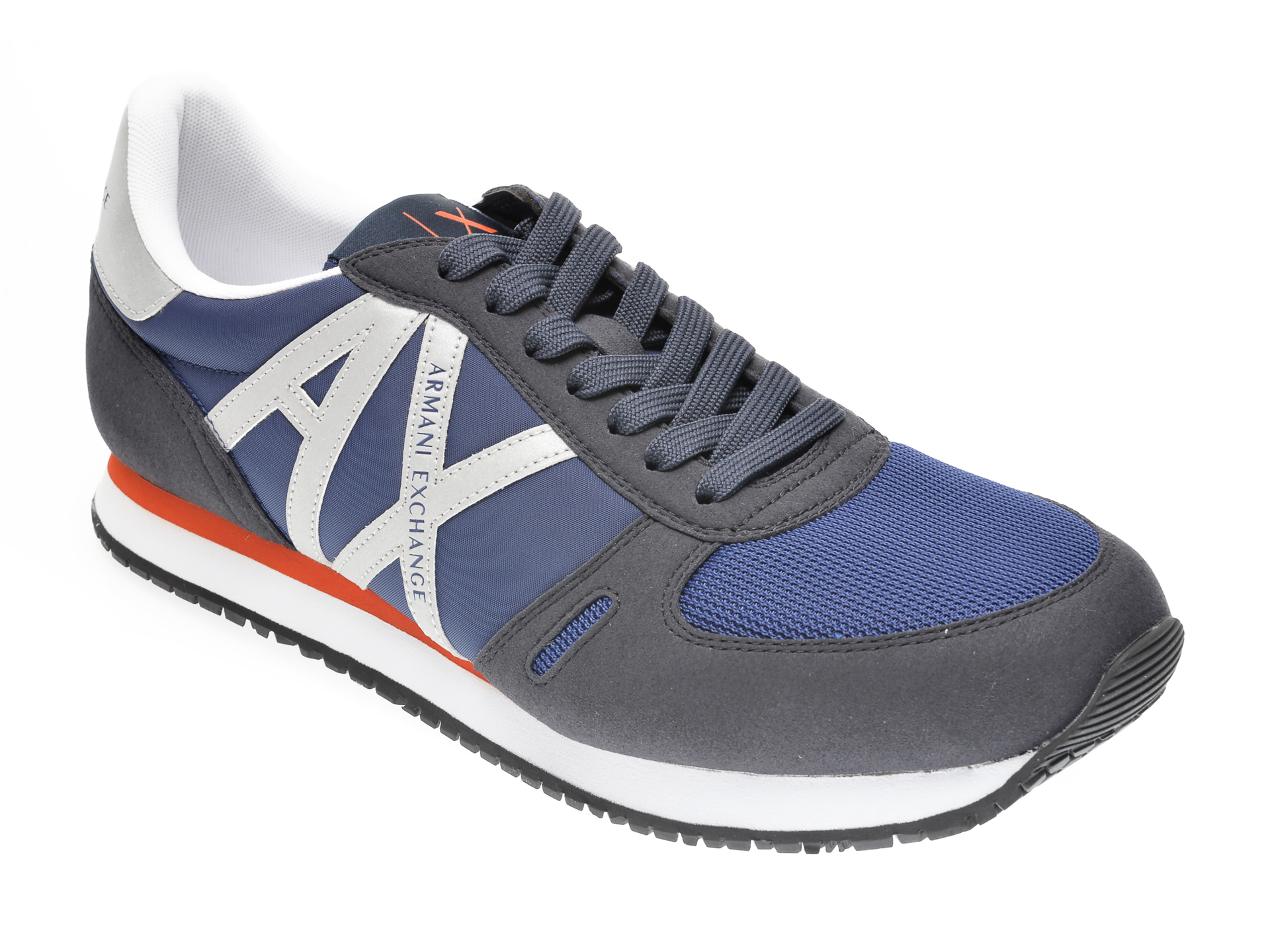 Pantofi sport ARMANI EXCHANGE bleumarin, XUX017, din material textil imagine otter.ro