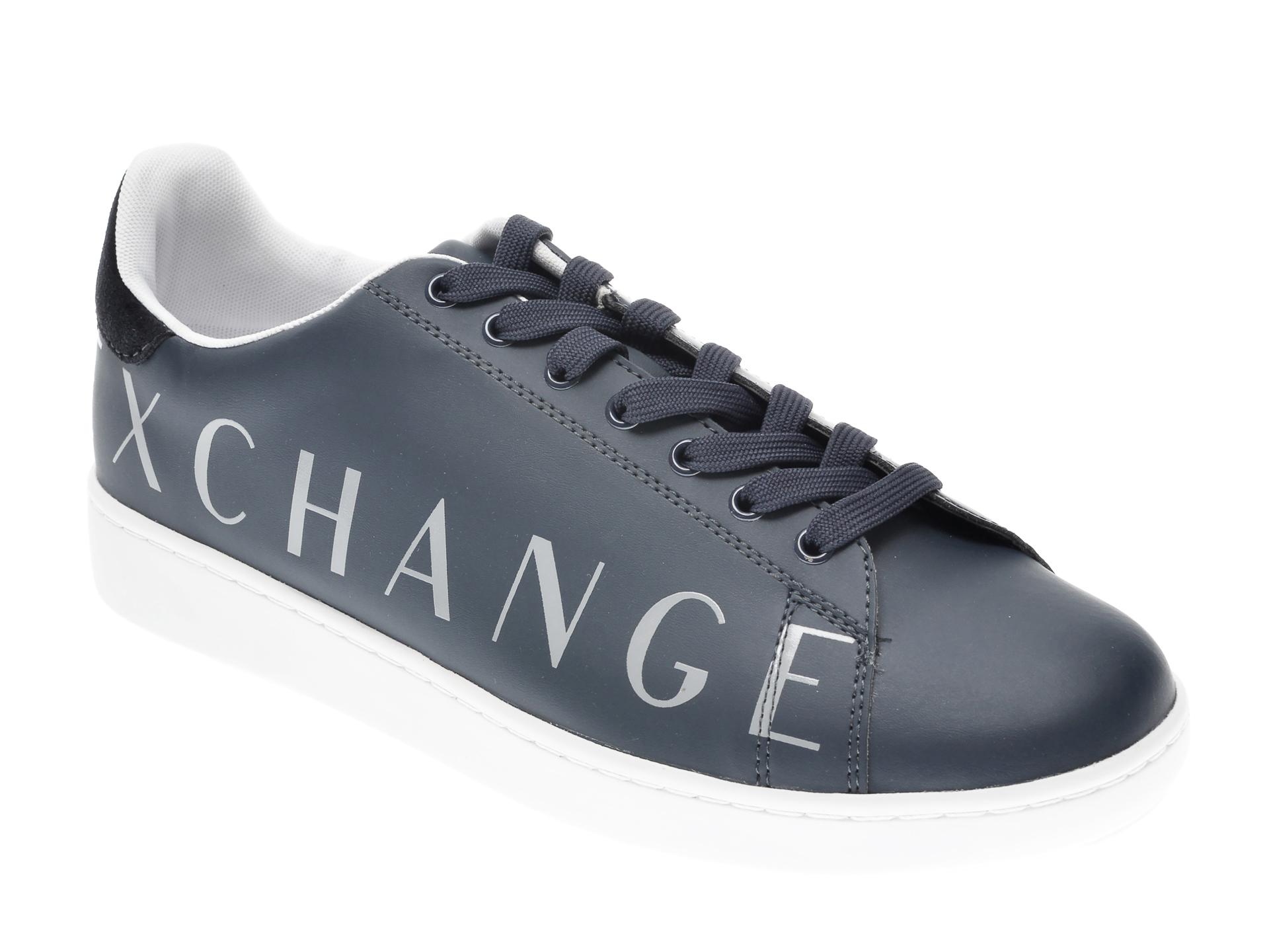 Pantofi sport ARMANI EXCHANGE bleumarin, XUX084, din piele ecologica imagine