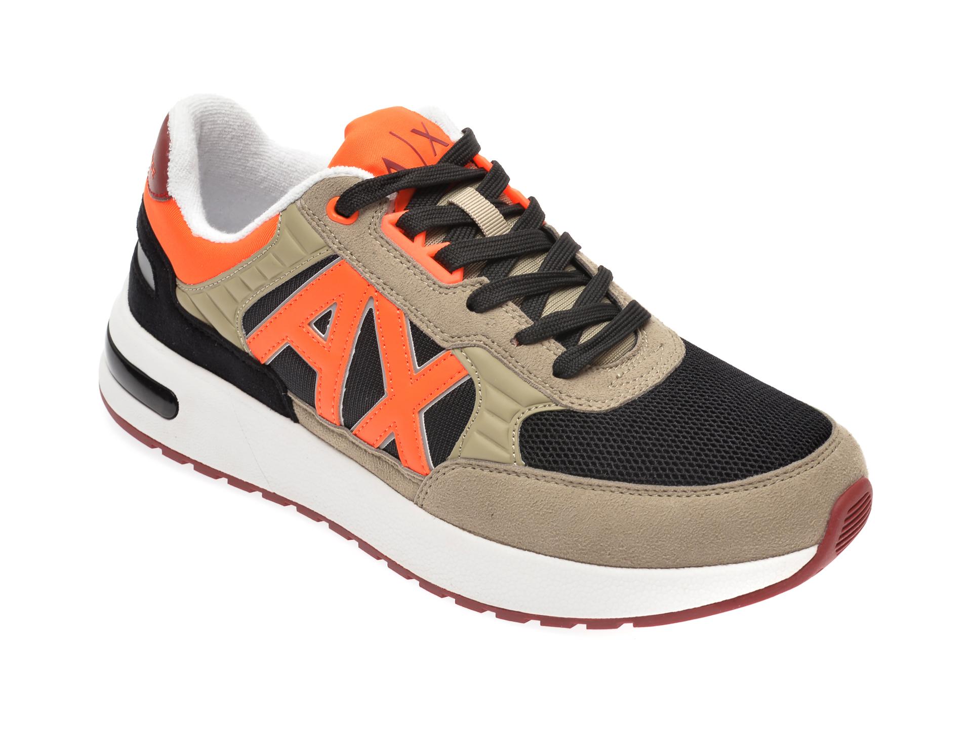 Pantofi sport ARMANI EXCHANGE kaki, XUX052, din material textil imagine