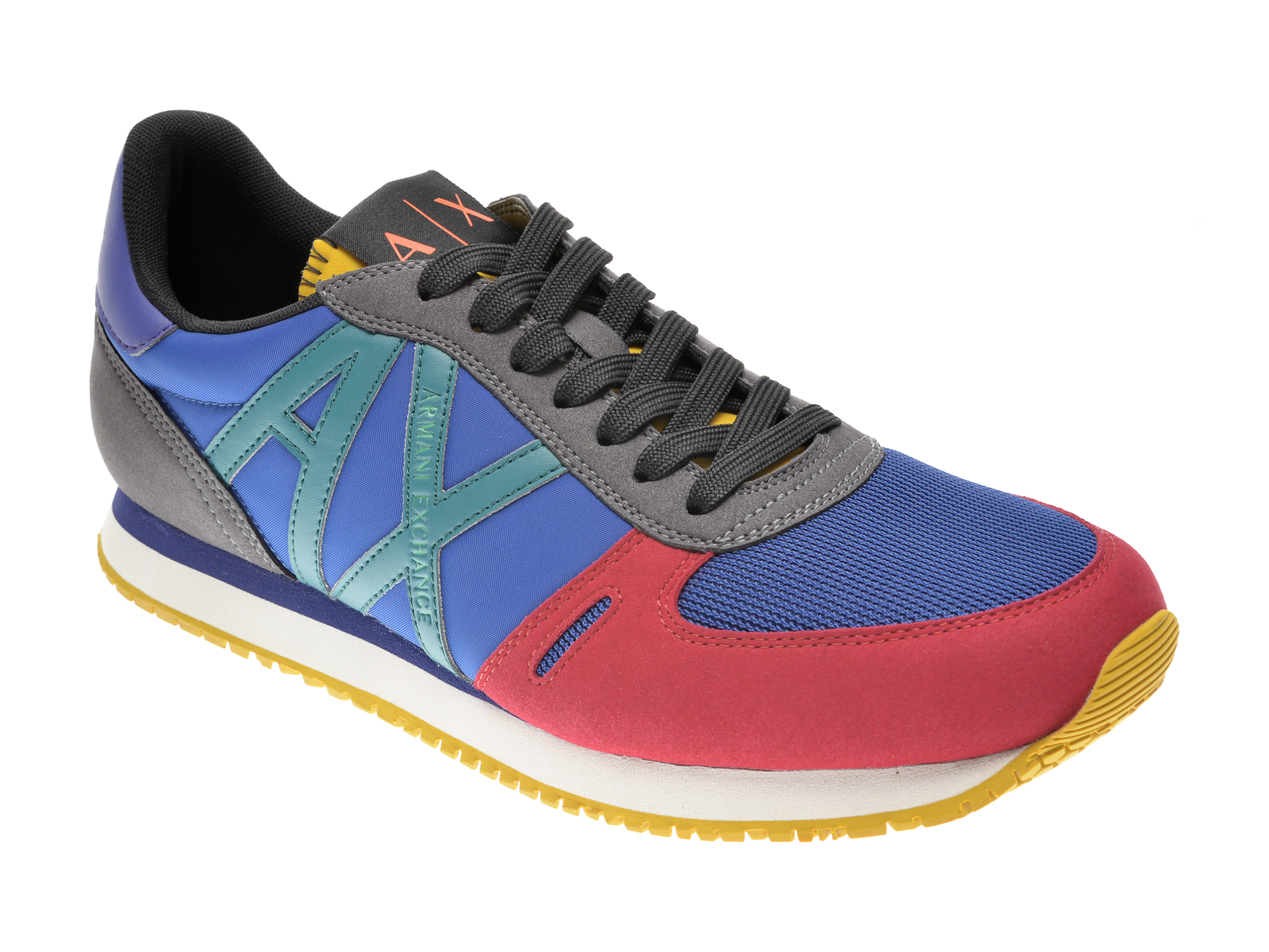 Pantofi sport ARMANI EXCHANGE multicolor, XUX017, din material textil si piele ecologica imagine