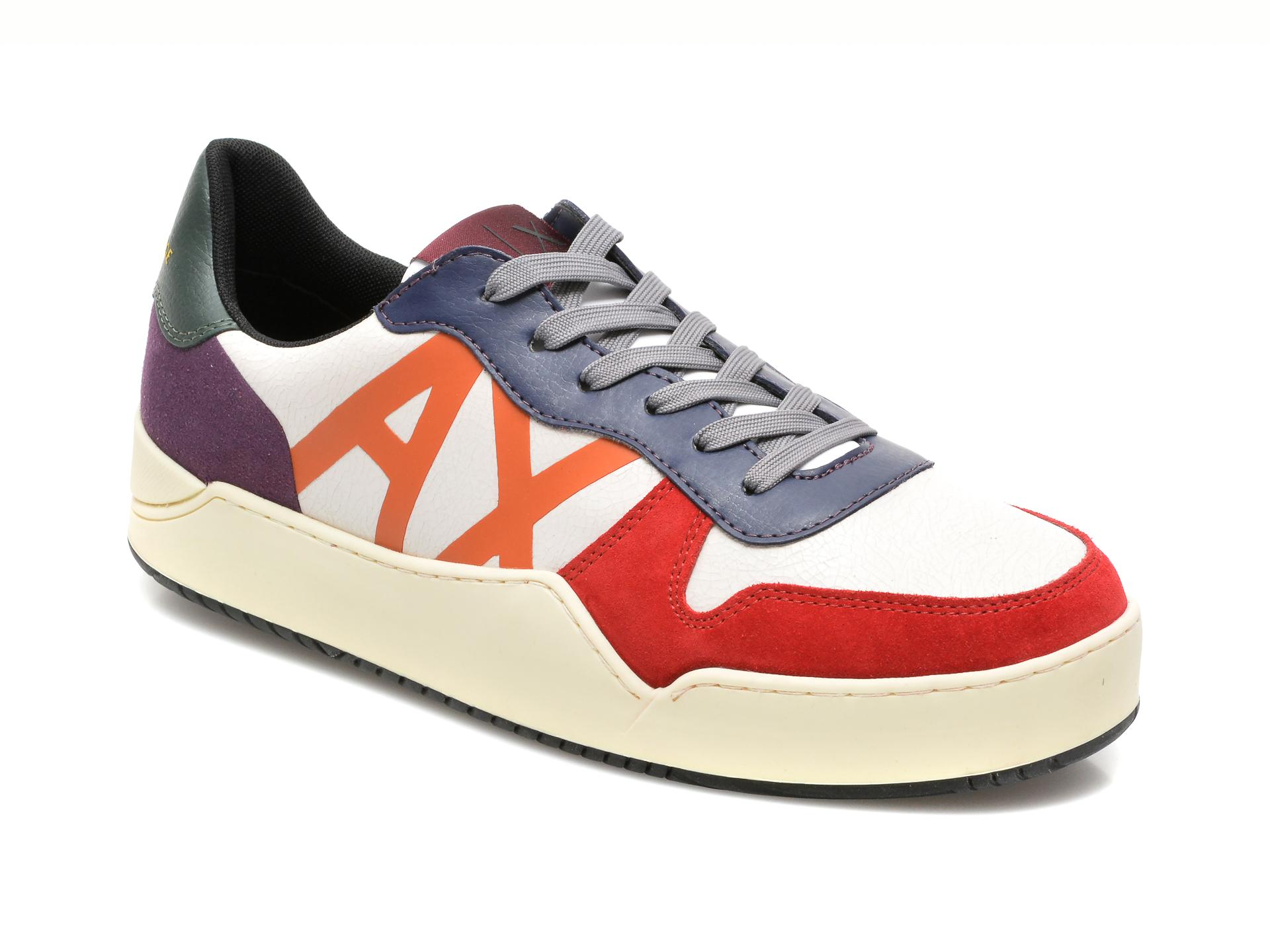 Pantofi Sport Armani Exchange Multicolori, Xux115, Din Piele Naturala