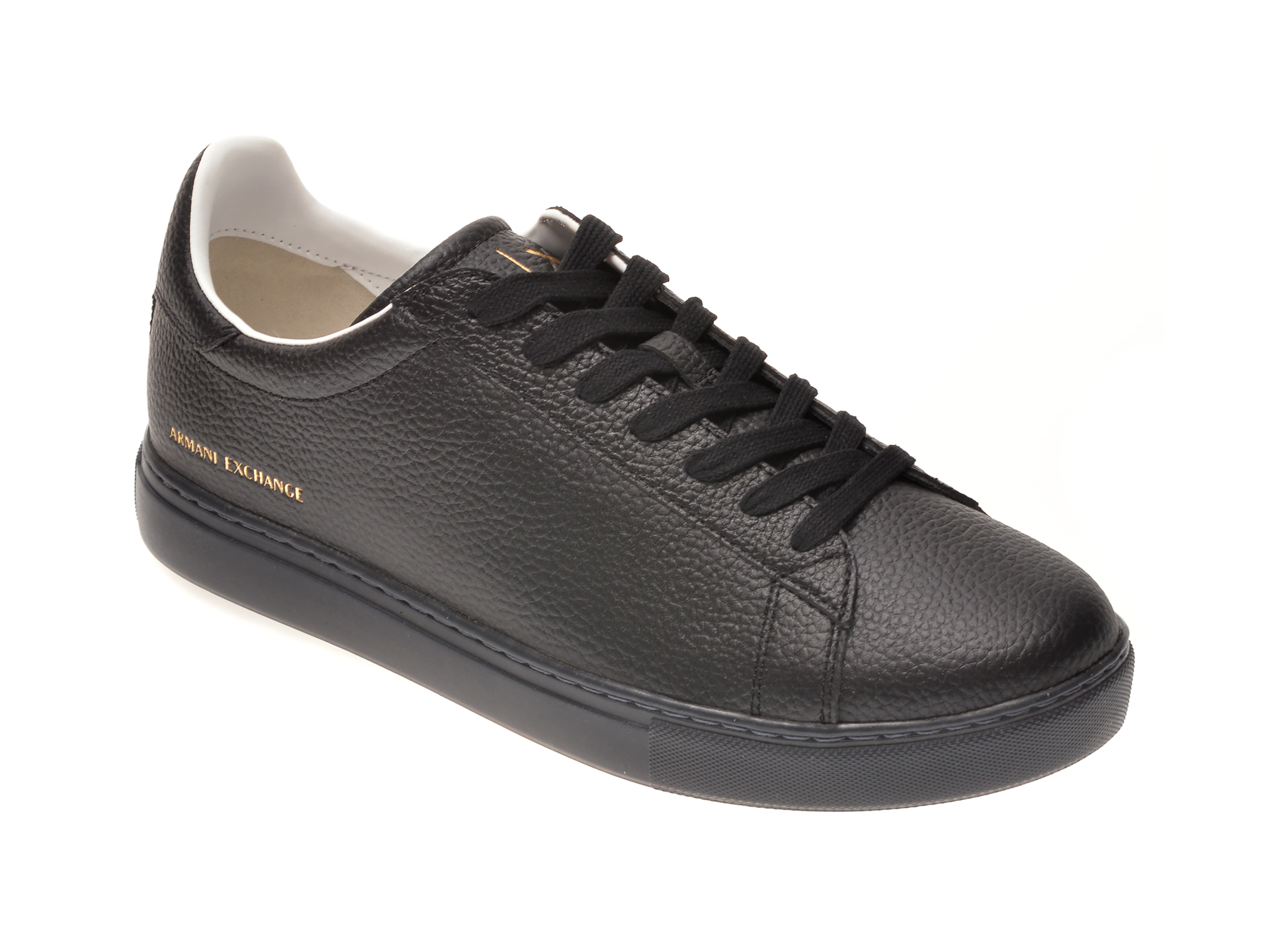 Pantofi sport ARMANI EXCHANGE negri, XUX001, din piele naturala