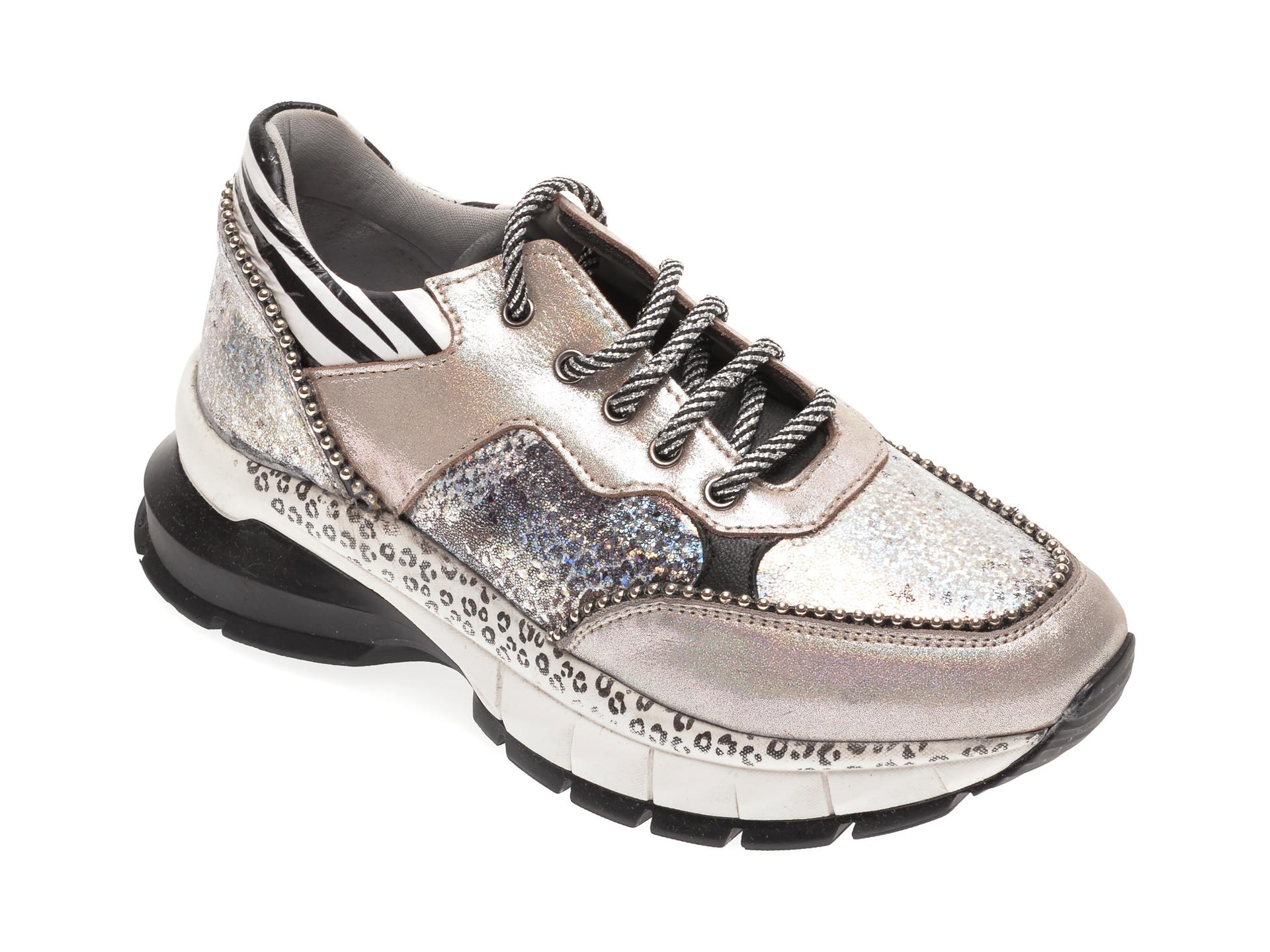 Pantofi sport BABOOS multicolori, 1201, din piele naturala imagine