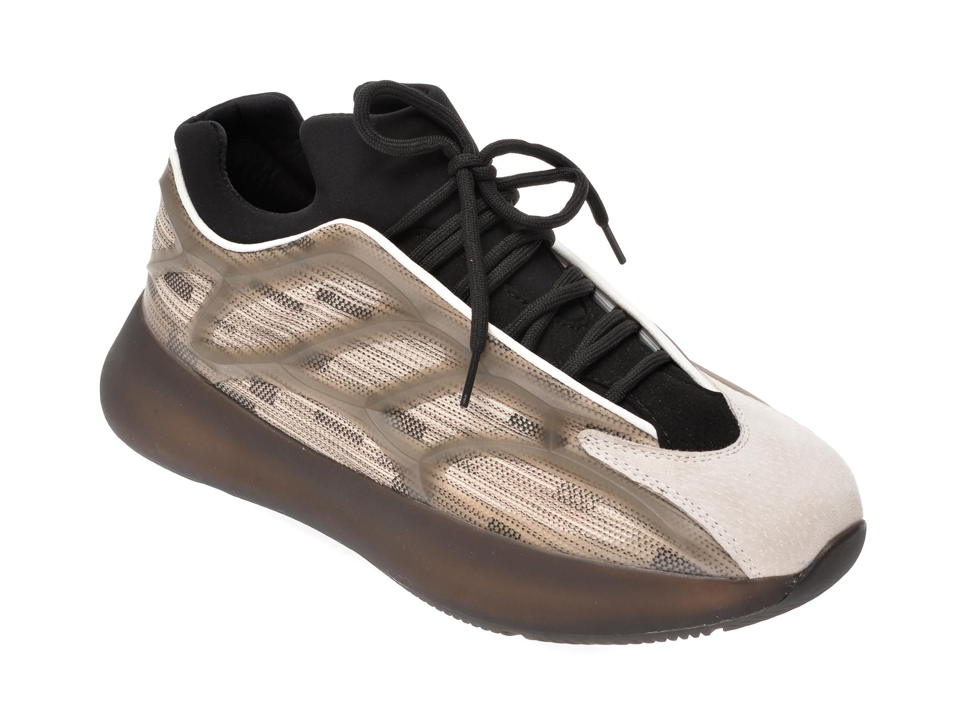 Pantofi sport BITE THE BULLET gri, 1010, din material textil si piele naturala imagine