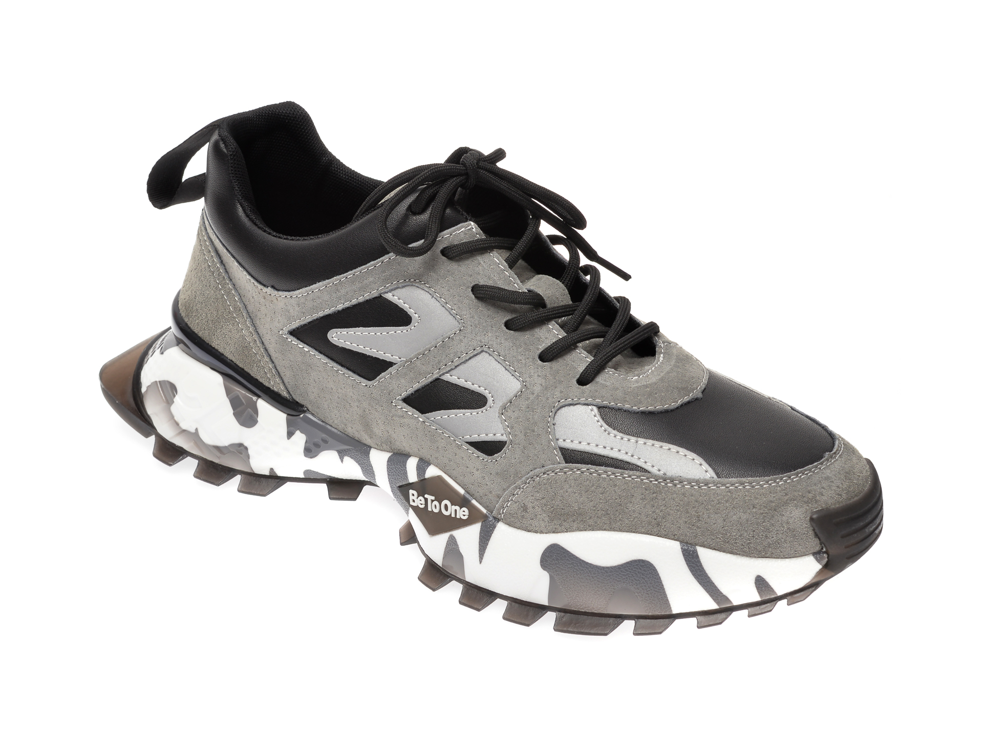 Pantofi sport BITE THE BULLET gri, 19903, din piele naturala New