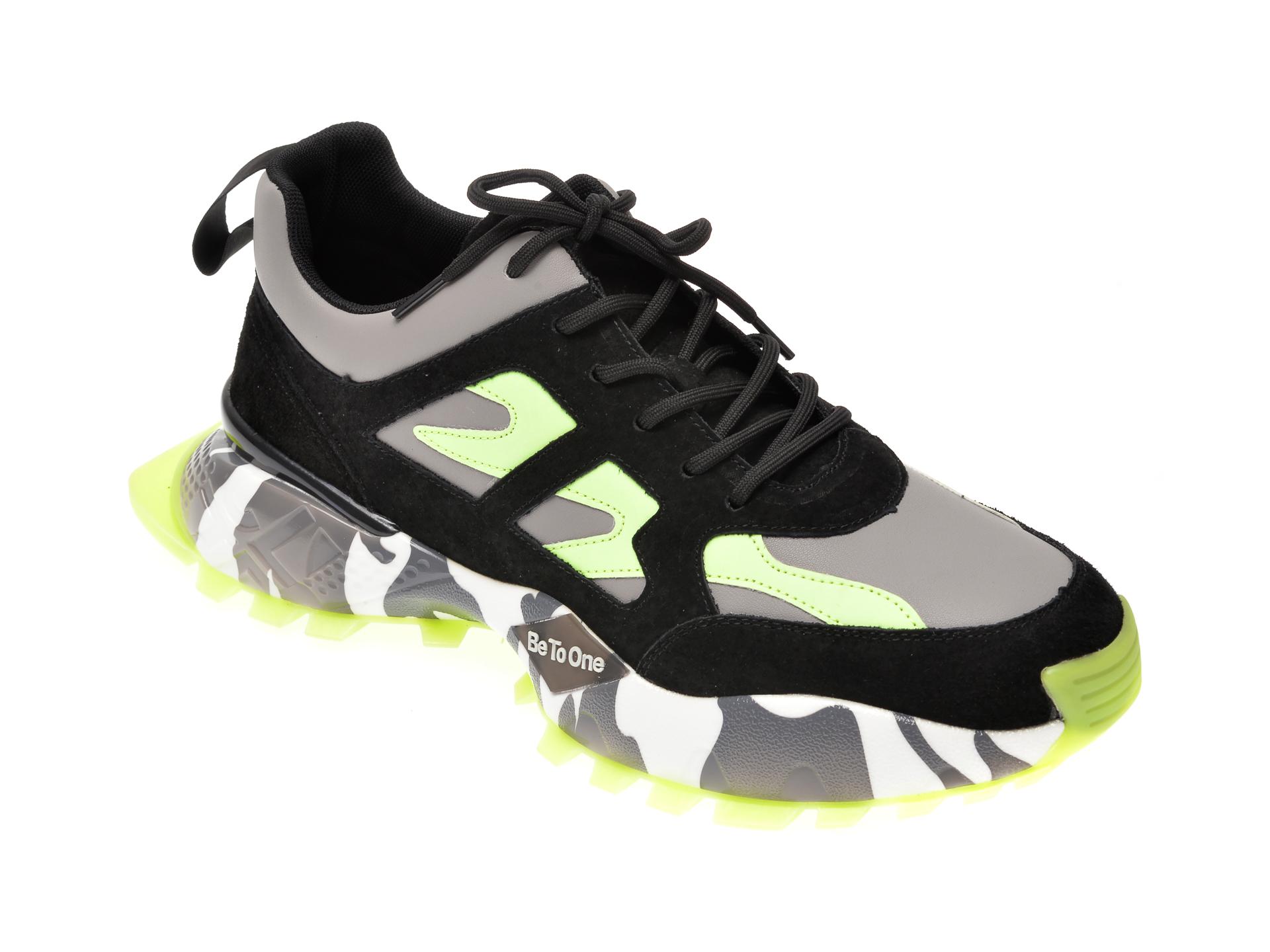 Pantofi sport BITE THE BULLET negri, 19903, din piele naturala imagine