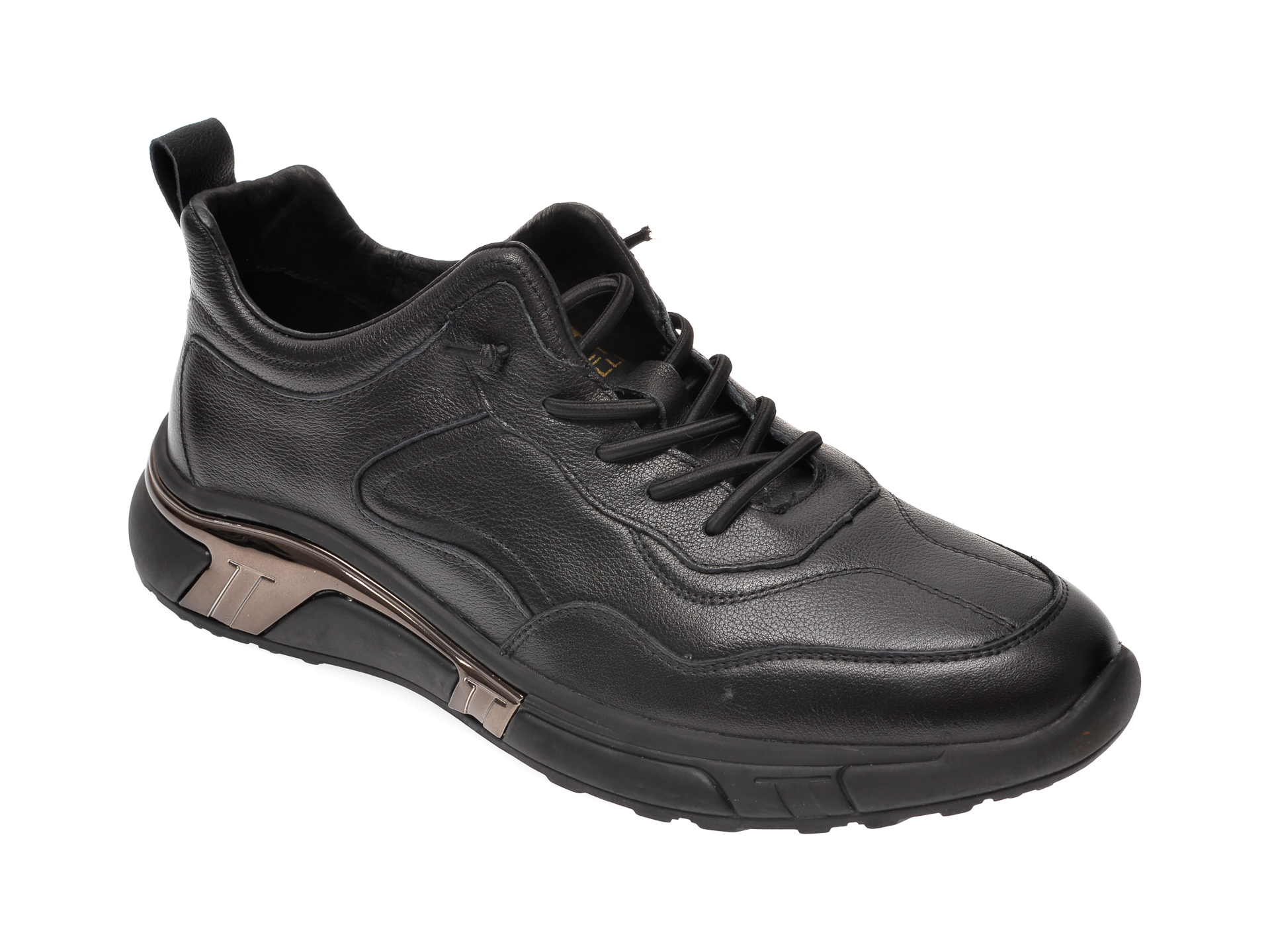 Pantofi sport BITE THE BULLET negri, 20327, din piele naturala imagine