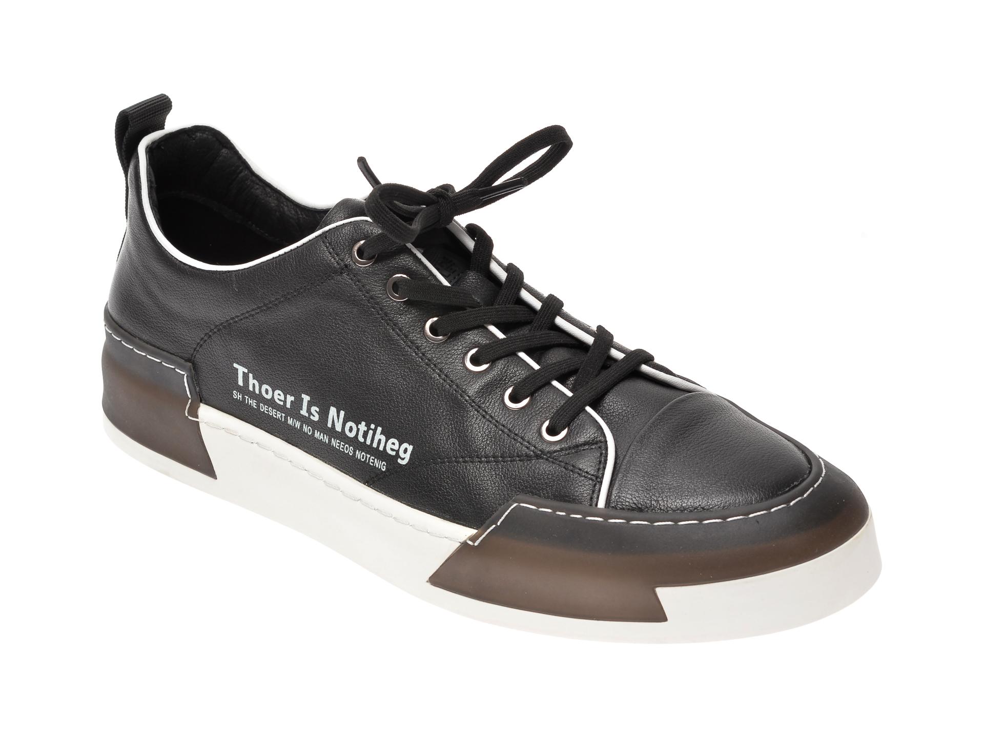 Pantofi sport BITE THE BULLET negri, 22069, din piele naturala imagine