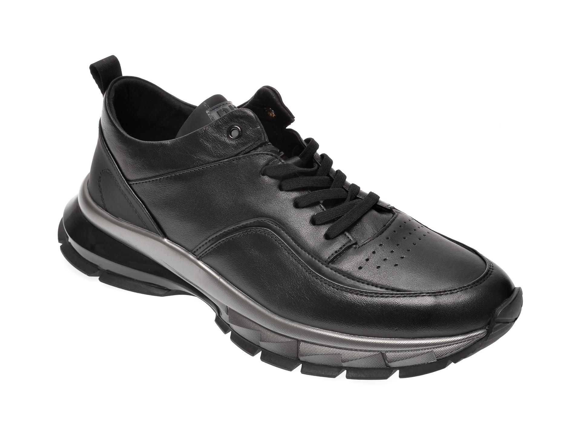 Pantofi sport BITE THE BULLET negri, 25770, din piele naturala imagine