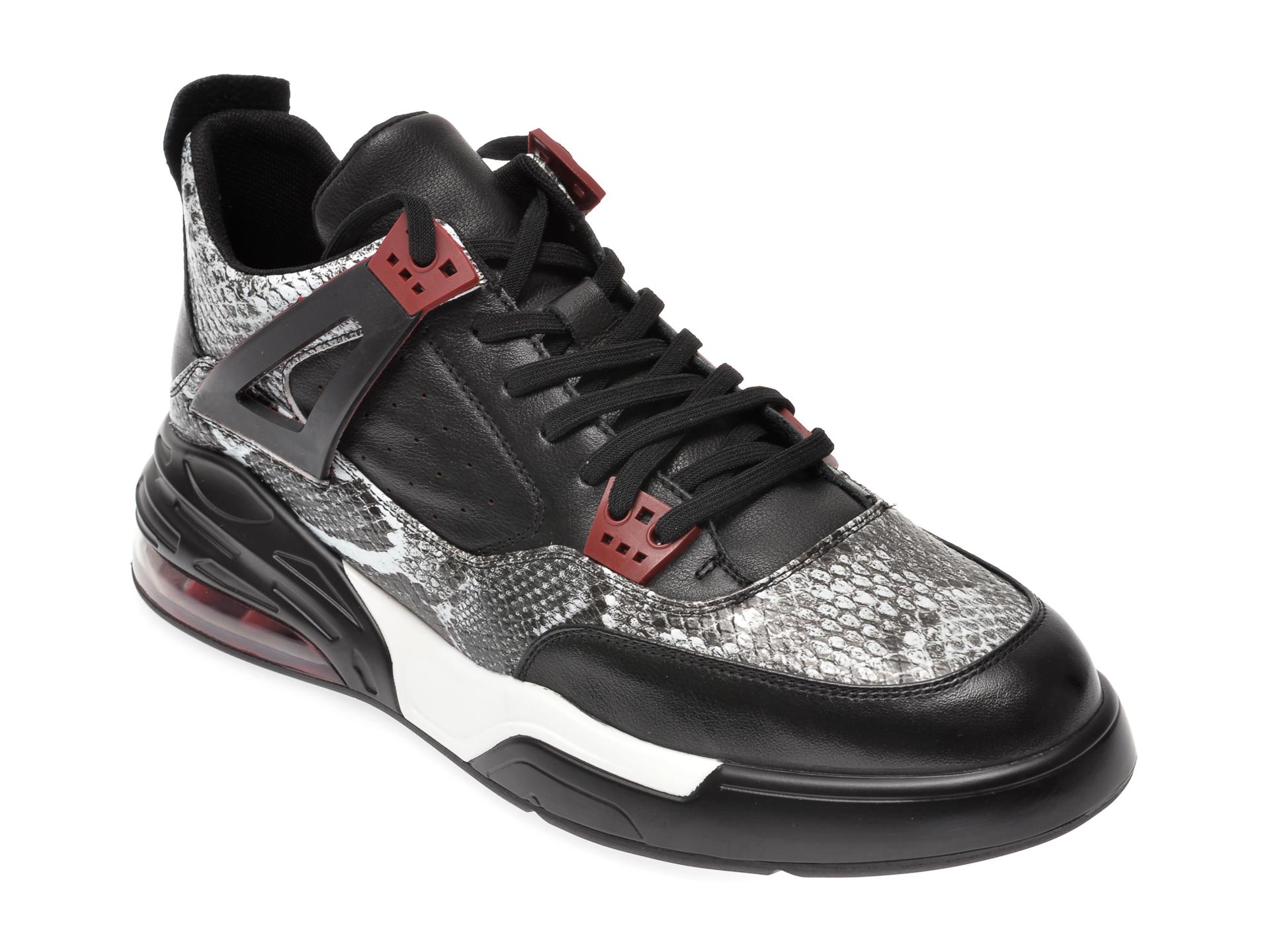 Pantofi sport BITE THE BULLET negri, 60256, din piele naturala imagine