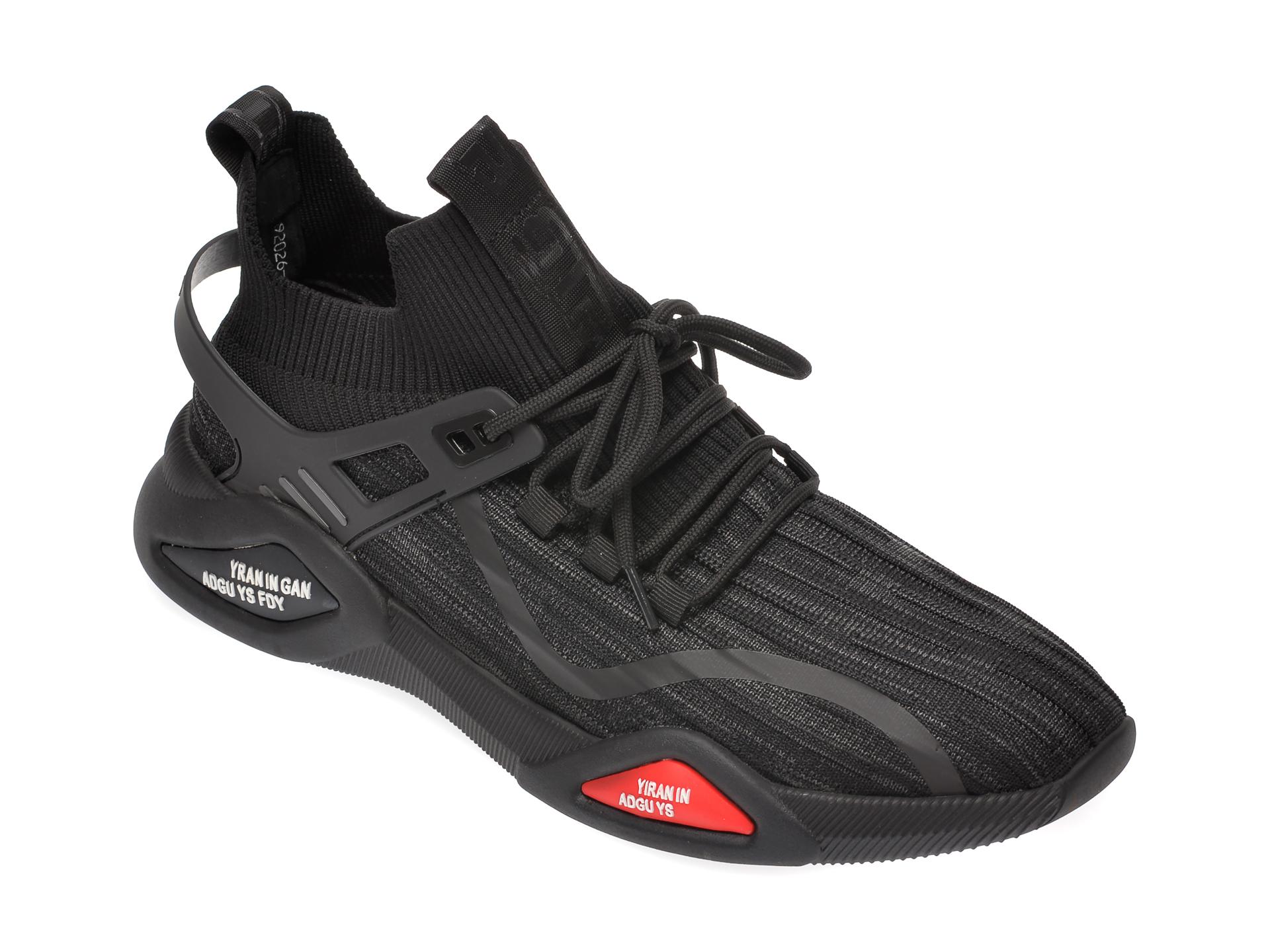 Pantofi sport BITE THE BULLET negri, 92026, din material textil imagine