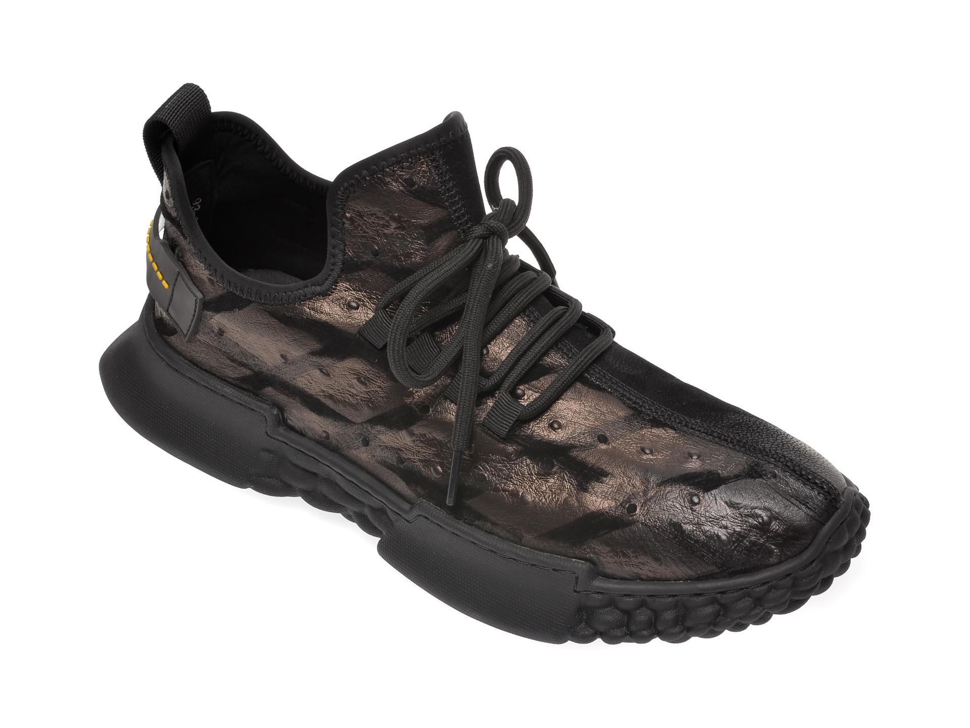 Pantofi sport BITE THE BULLET negri, 9395271, din nabuc imagine